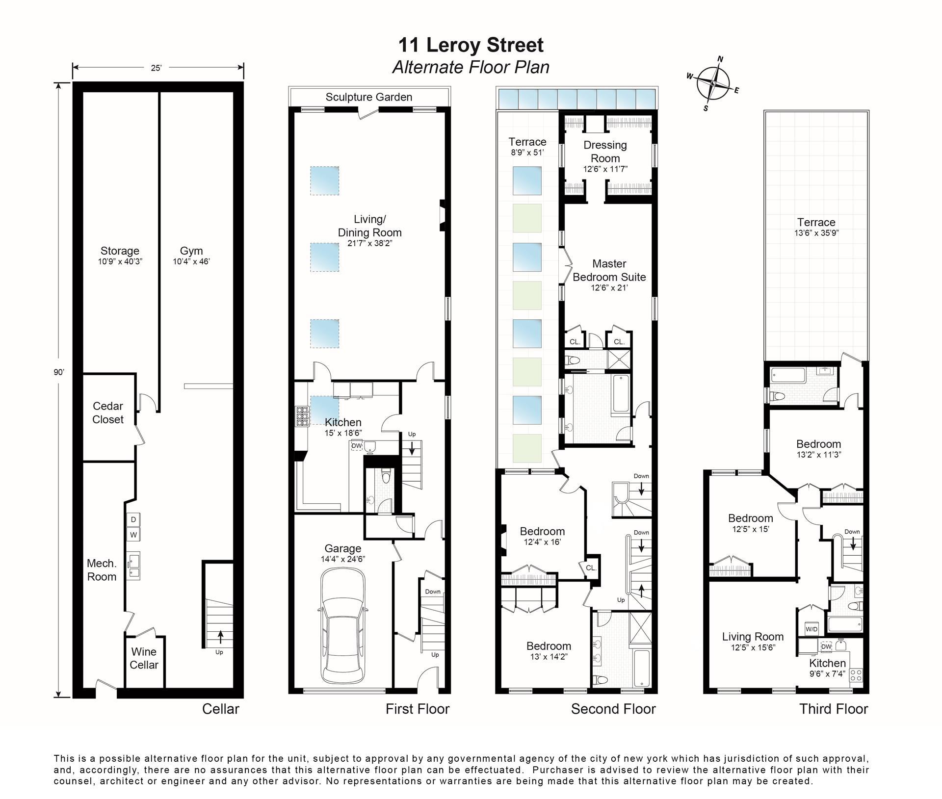 Floor plan of 11 Leroy St - Greenwich Village, New York