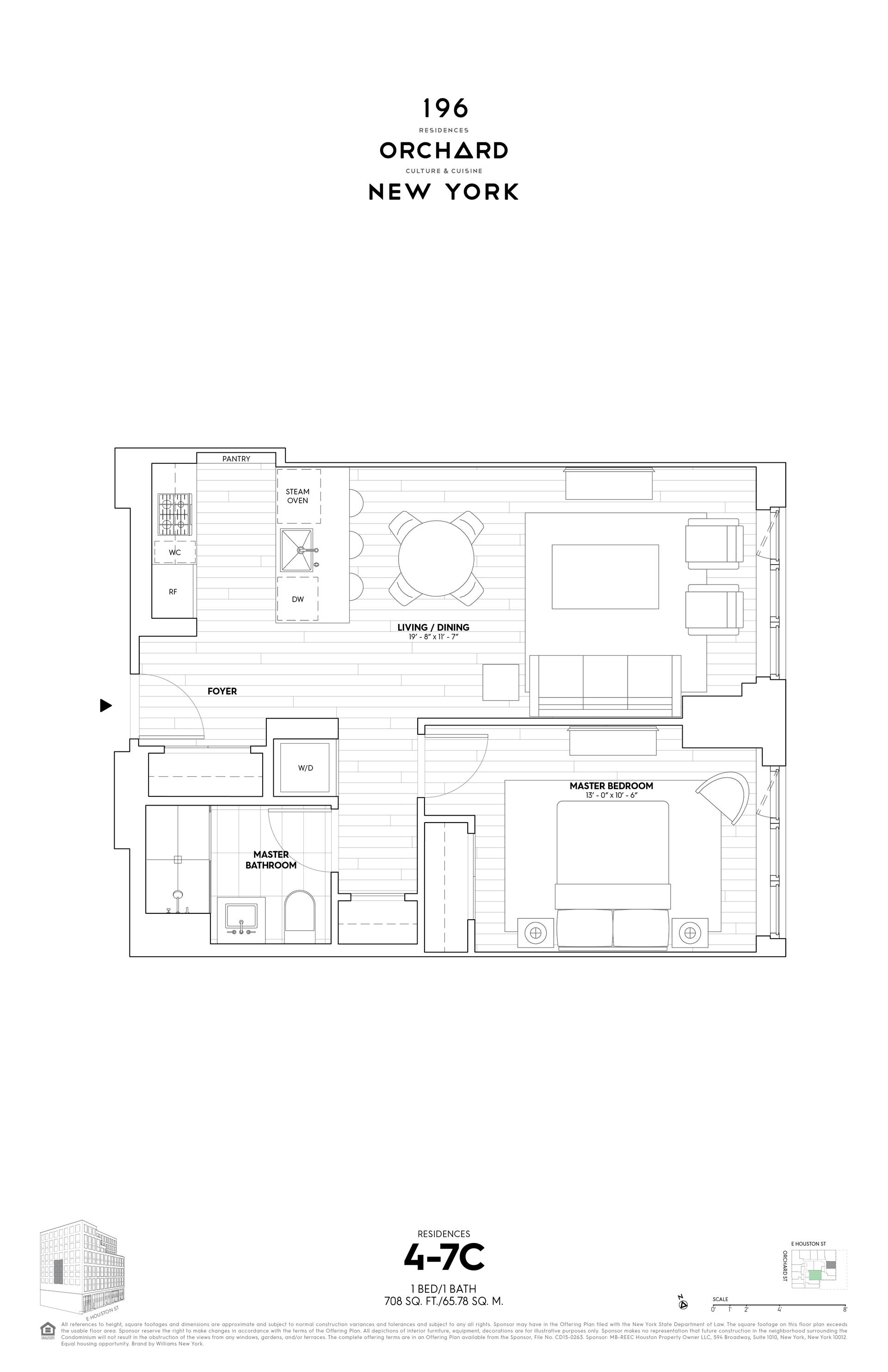 Floor plan of 196 Orchard St, 7C - Lower East Side, New York