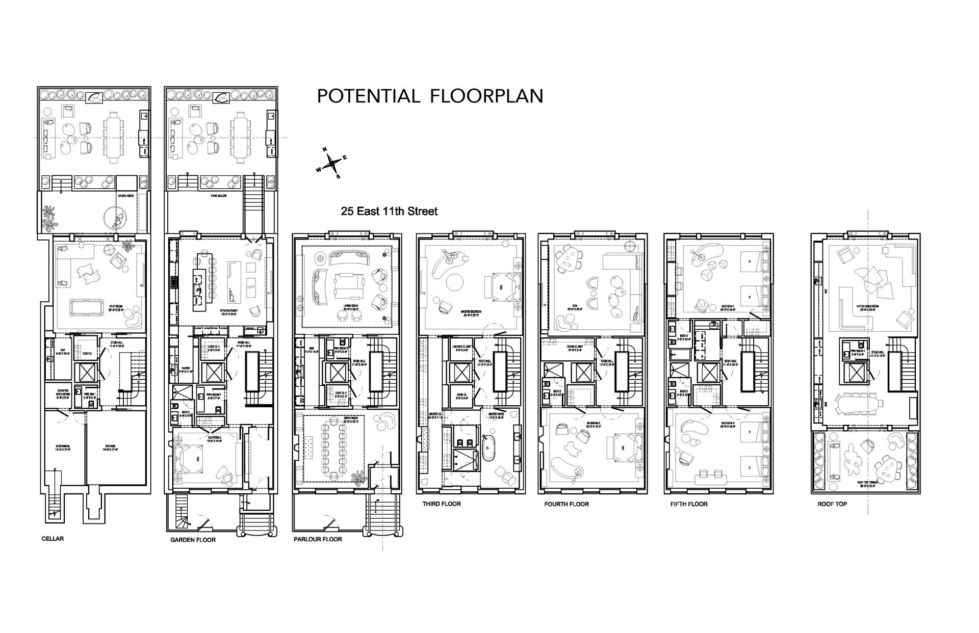 Floor plan of 25 East 11th St - Greenwich Village, New York