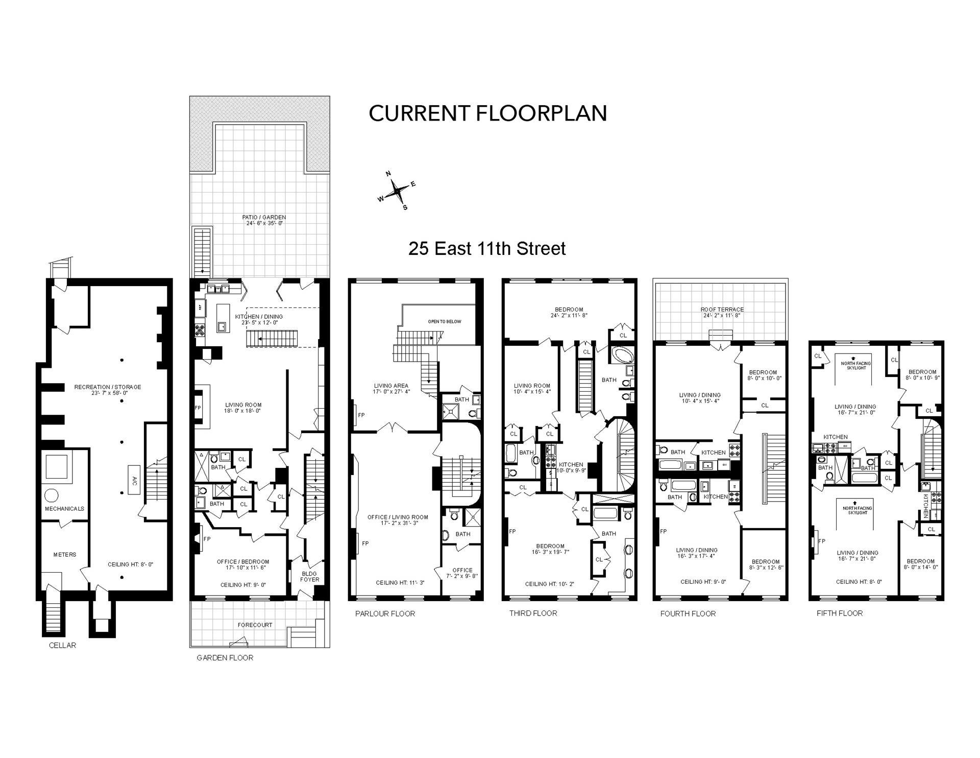 Floor plan of 25 East 11th St - Greenwich Village, New York