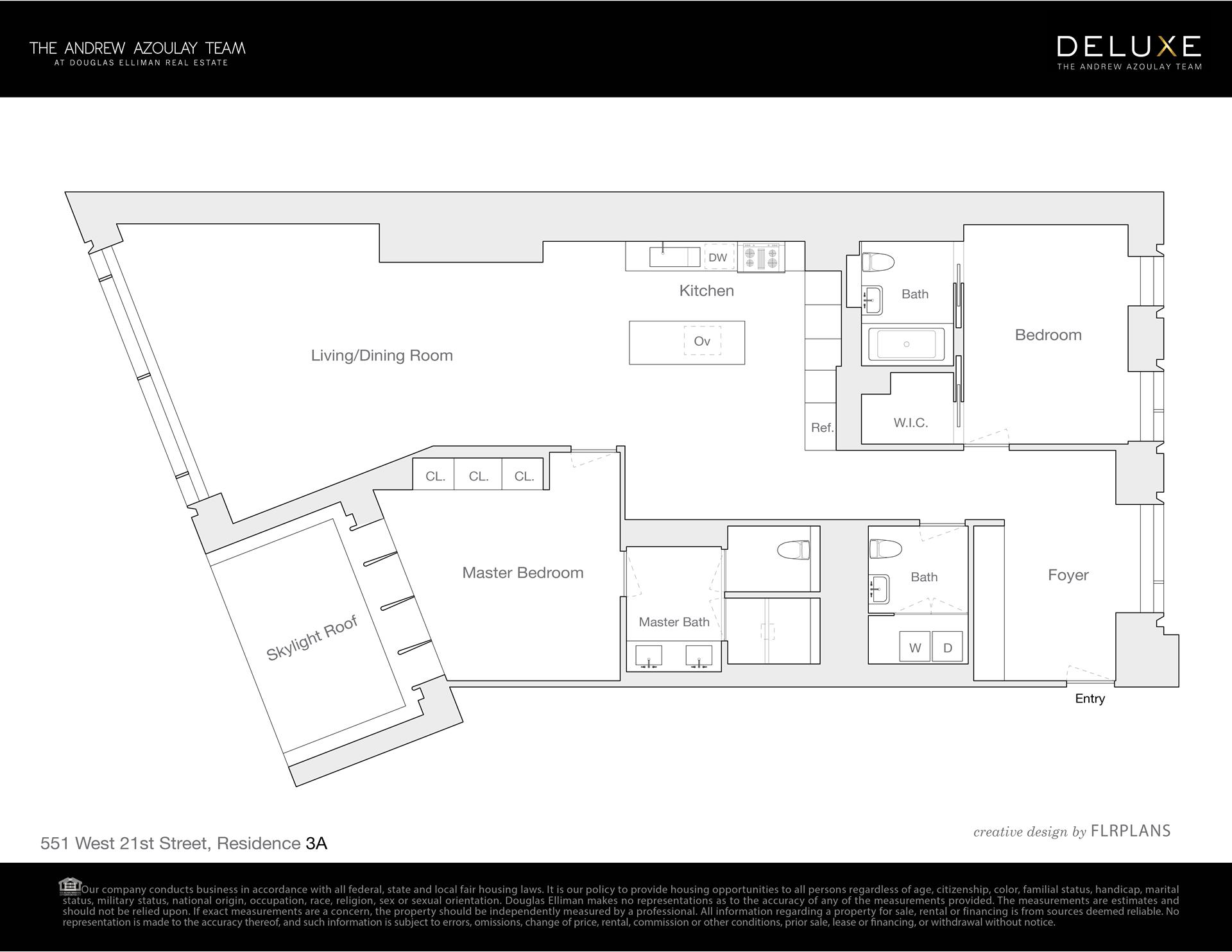 Floor plan of 551 West 21st St, 3A - Chelsea, New York