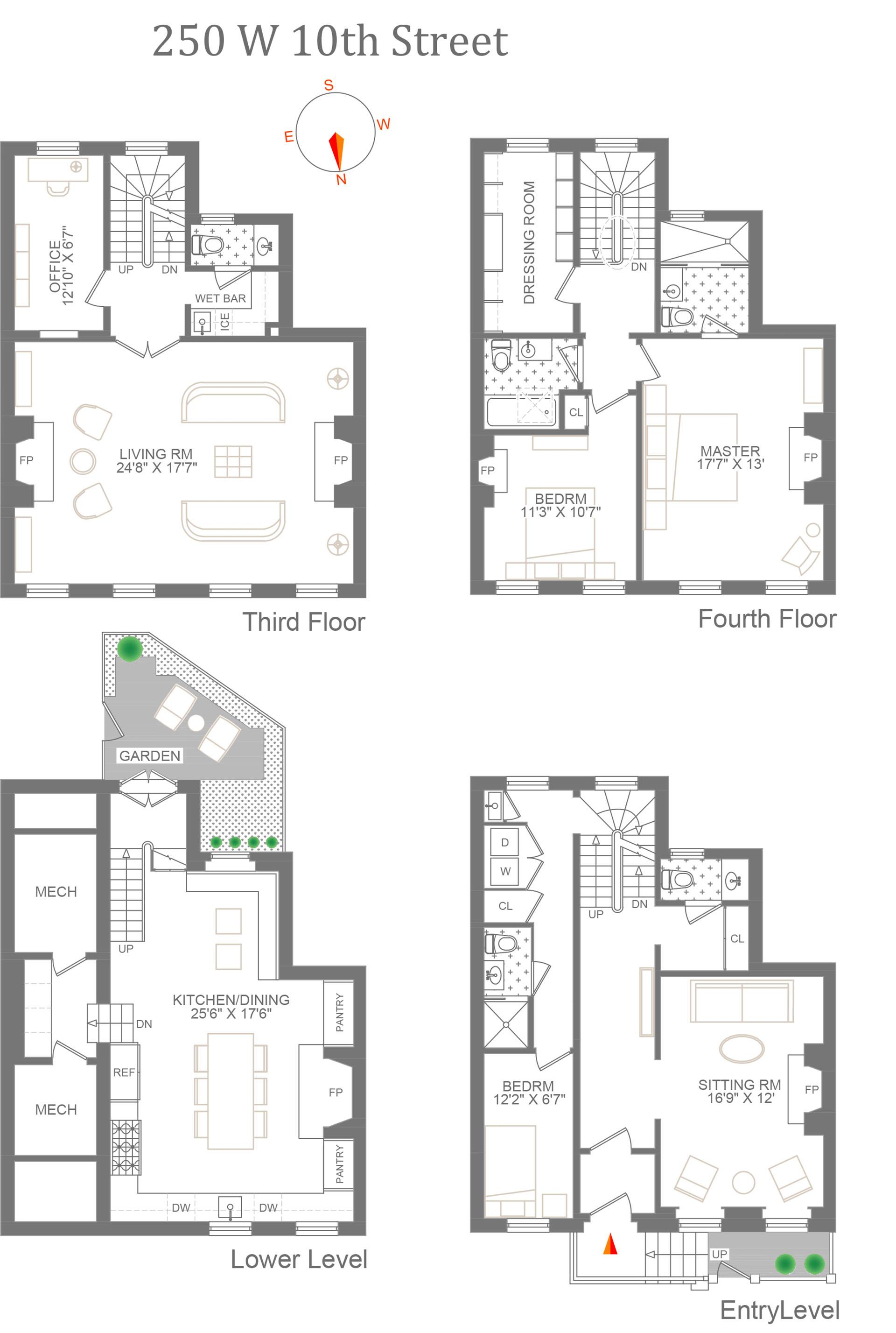 Floor plan of 250 West 10th St - West Village - Meatpacking District, New York
