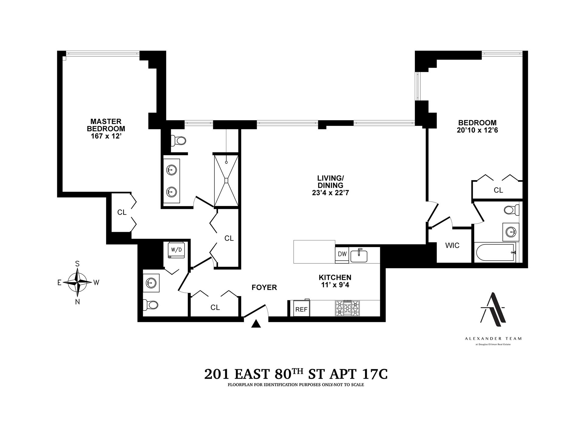 Floor plan of The Richmond, 201 East 80th St, 17C - Upper East Side, New York