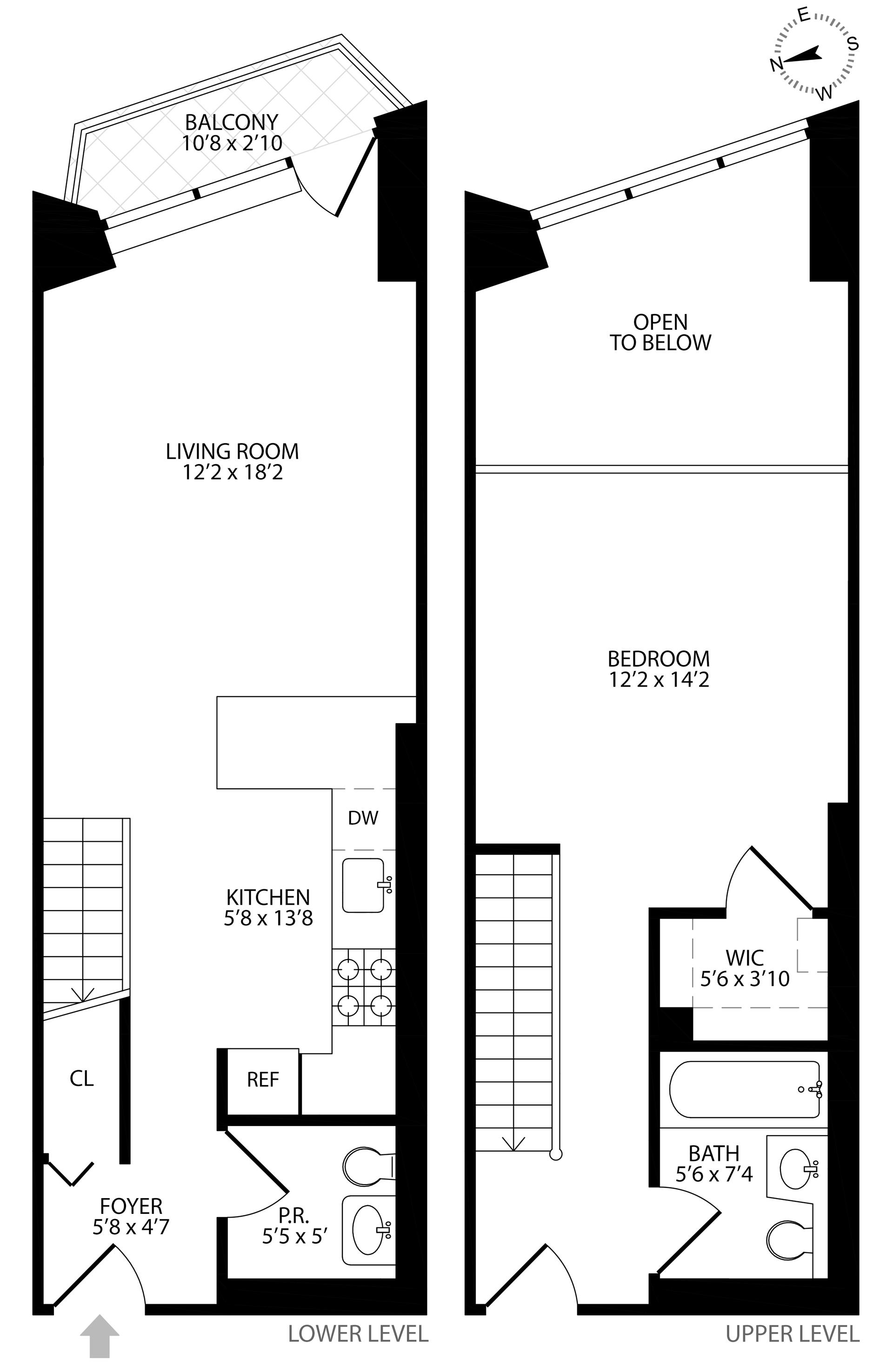 Floor plan of The Alexandria, 201 West 72nd St, 12M - Upper West Side, New York