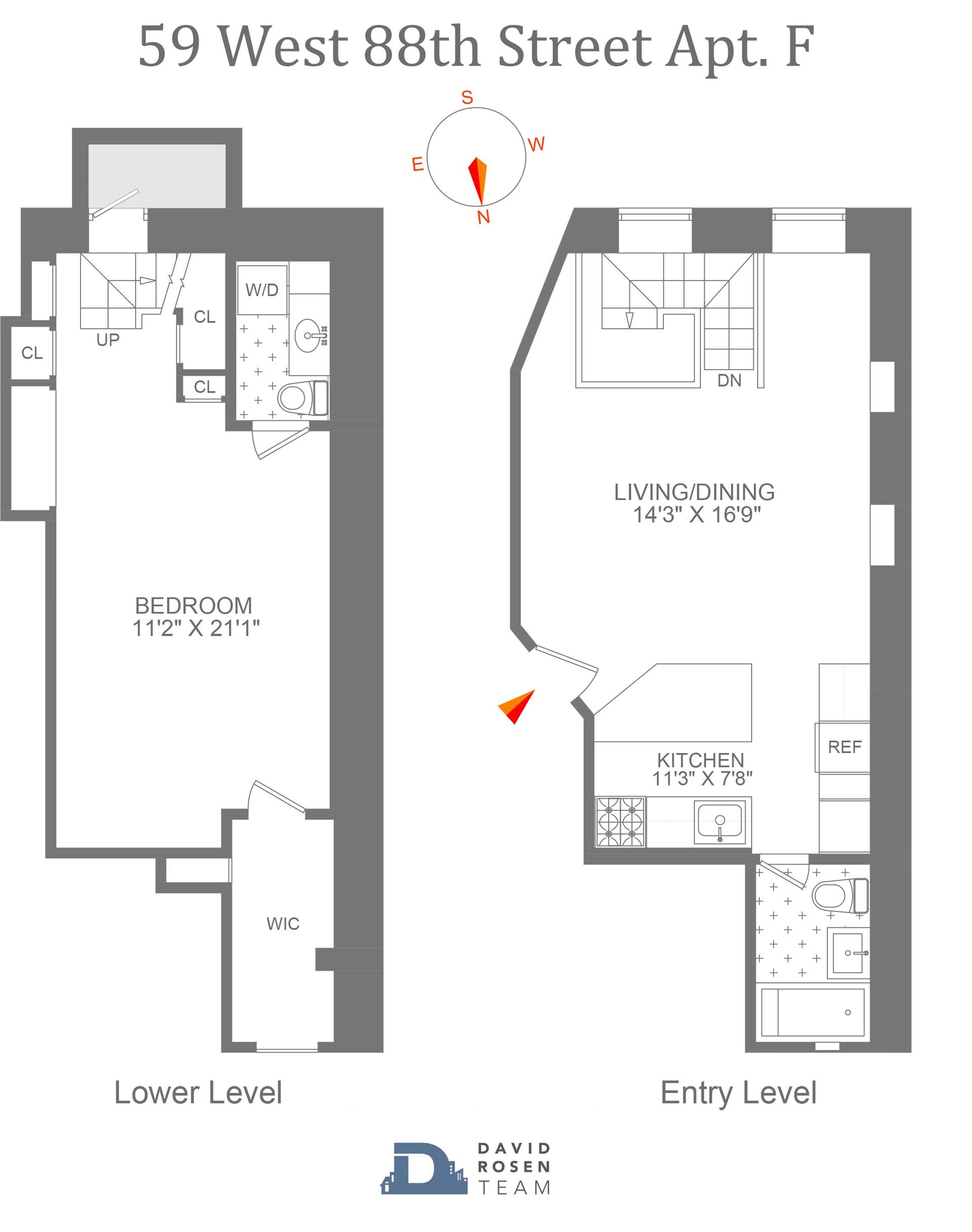 Floor plan of 59 West 88th St, BF - Upper West Side, New York