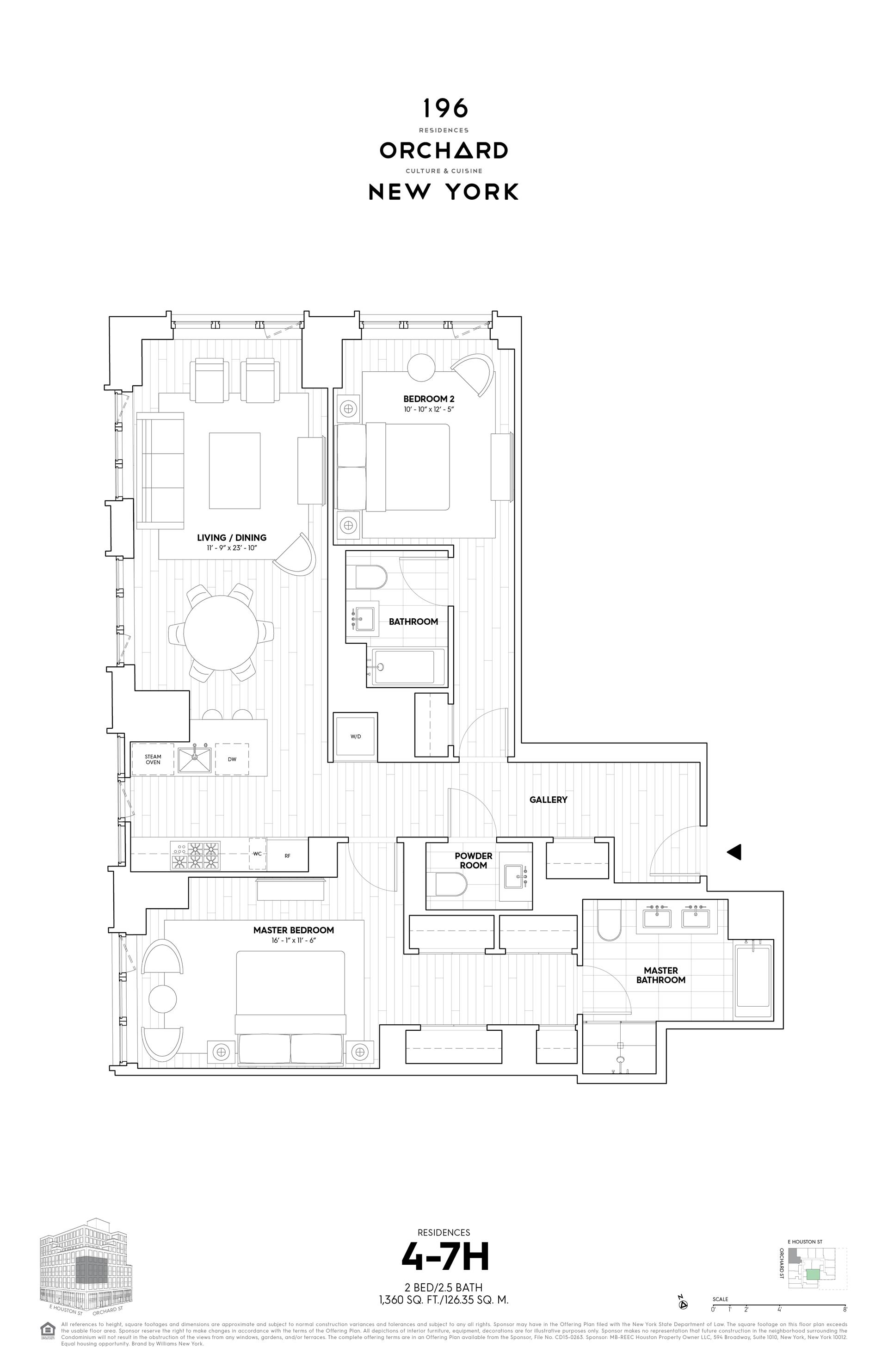 Floor plan of 196 Orchard Street, 7H - Lower East Side, New York