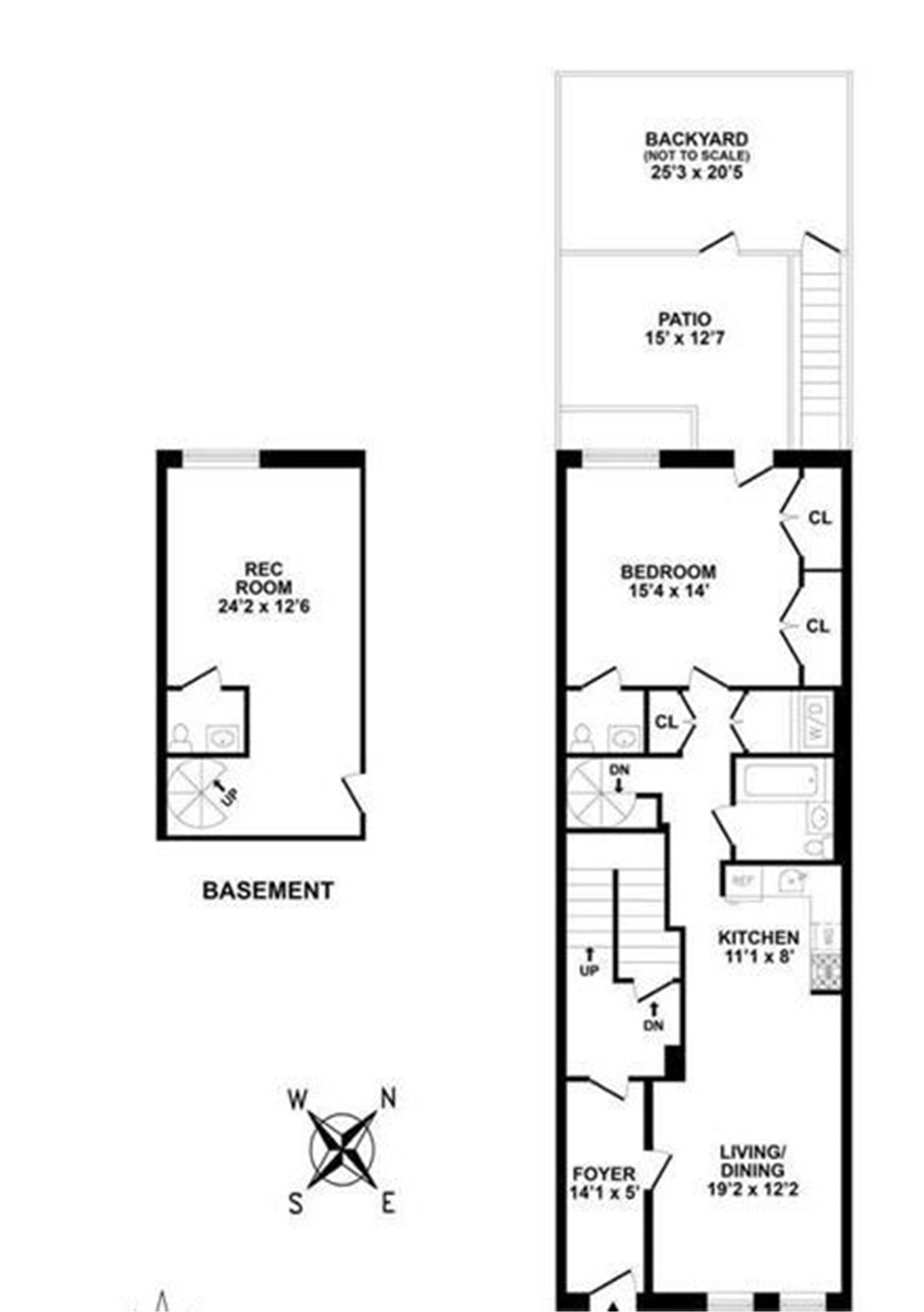 Floor plan of 413 Bergen St, 1 - Park Slope, New York