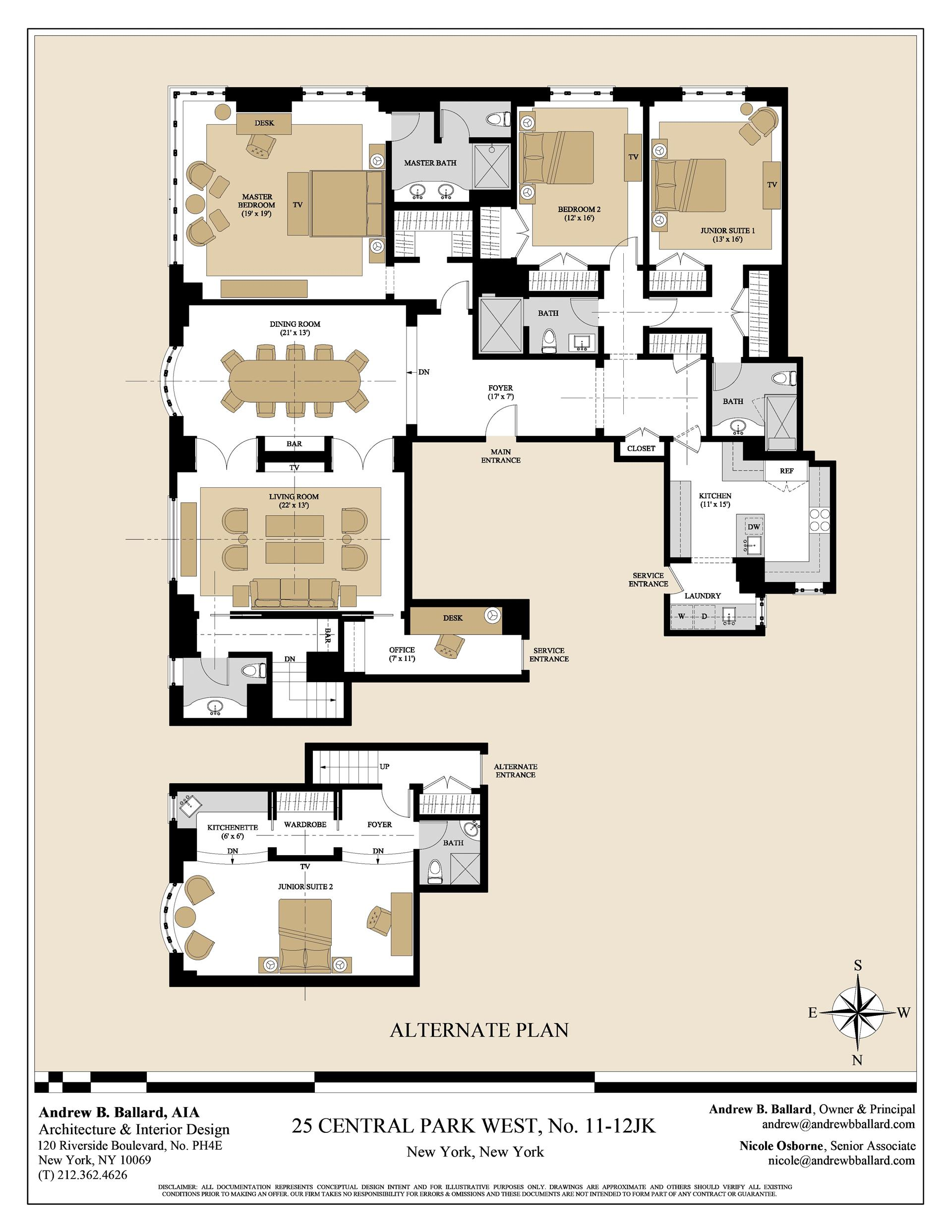 Floor plan of CENTURY, 25 Central Park West, 11/12JK - Lincoln Square, New York