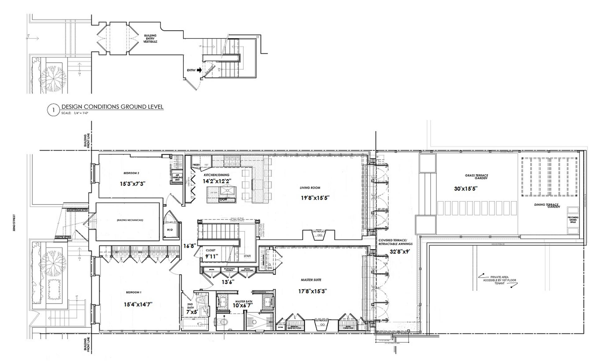 Floor plan of Fitzroy Place, 475 West 22nd St, 1 - Chelsea, New York