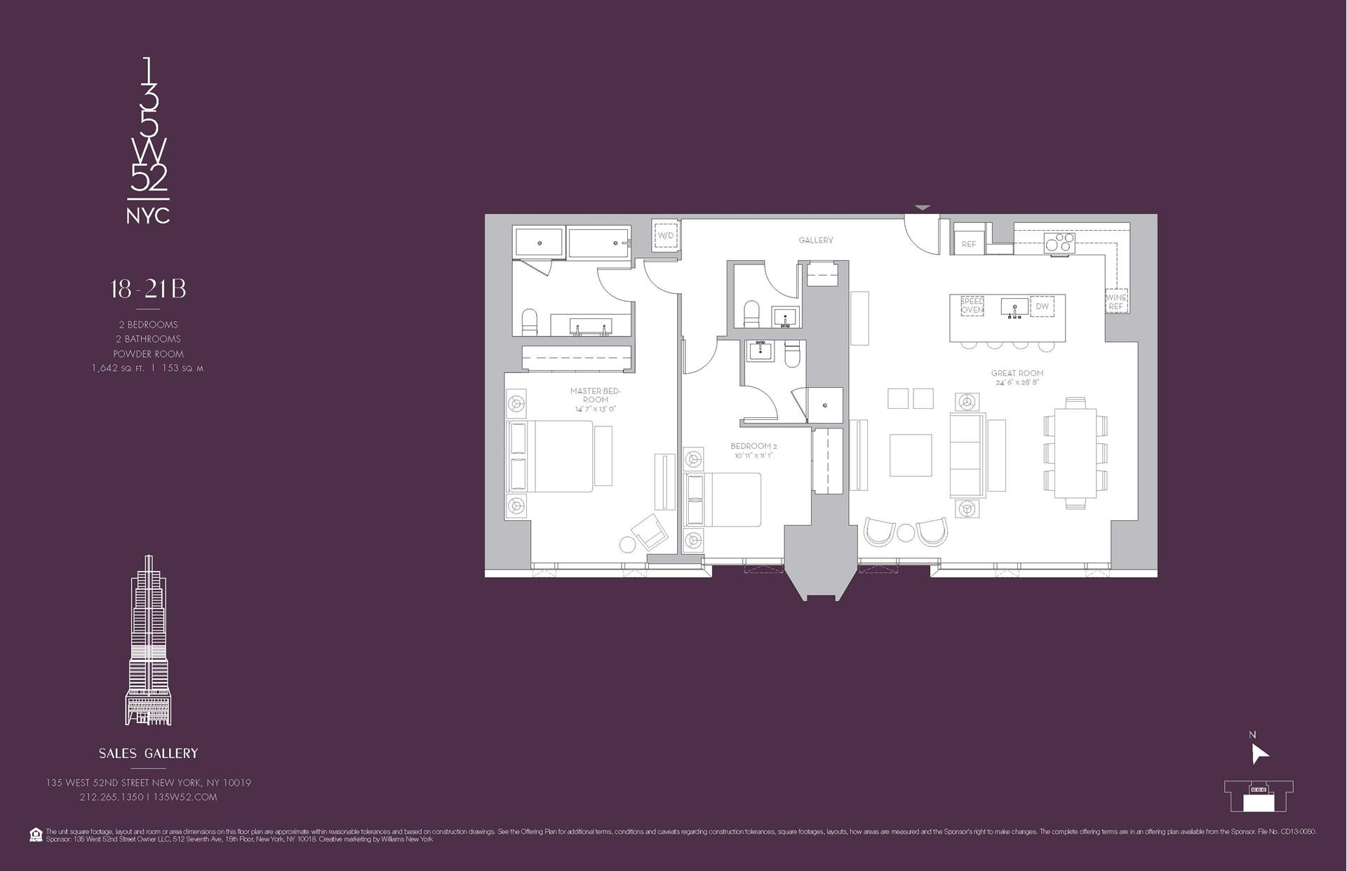 Floor plan of 135 West 52nd St, 20B - Midtown, New York