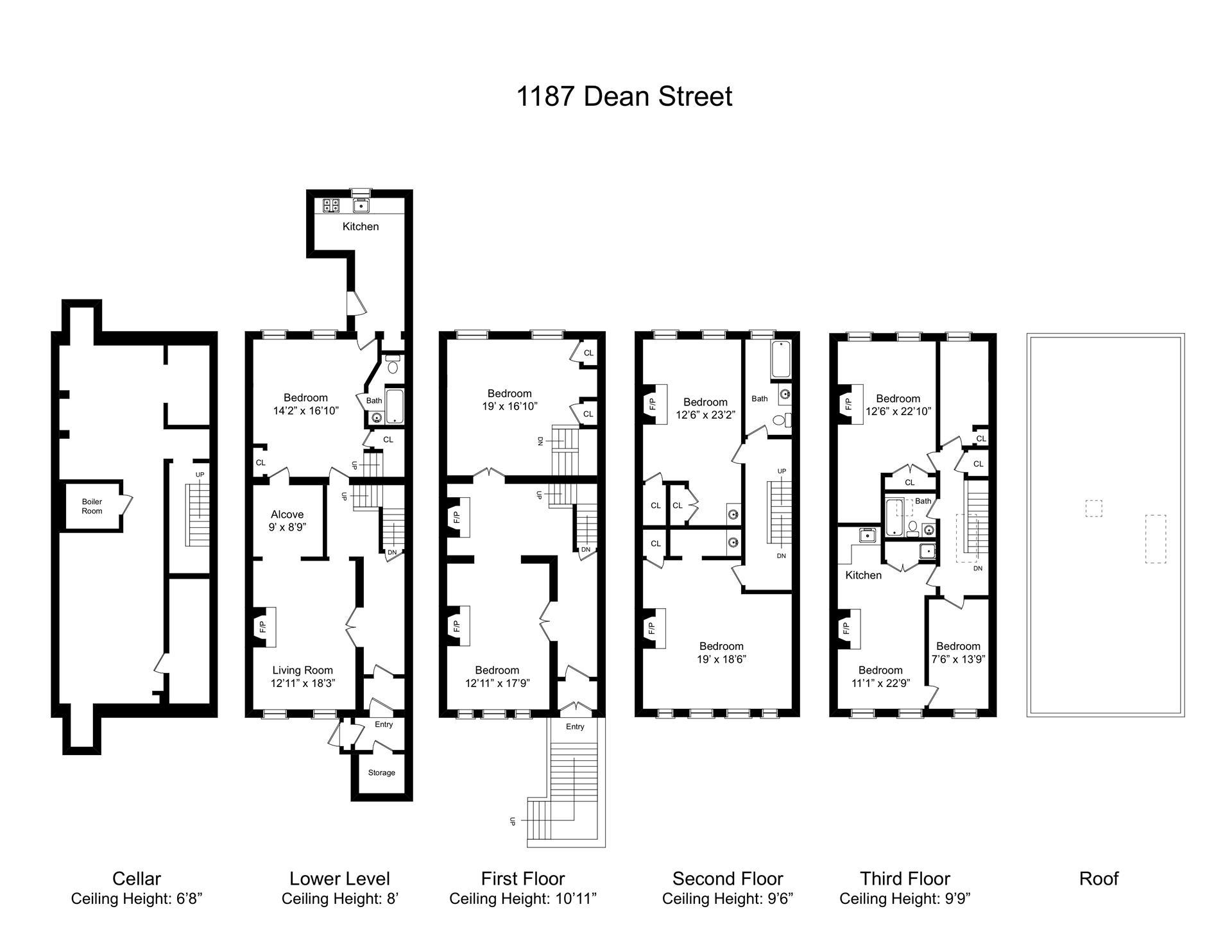 Floor plan of 1187 Dean St - Crown Heights, New York