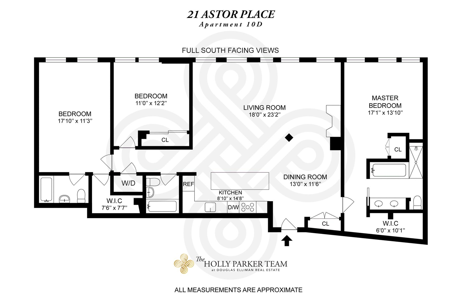 Floor plan of 21 Astor Pl, 10D - Greenwich Village, New York