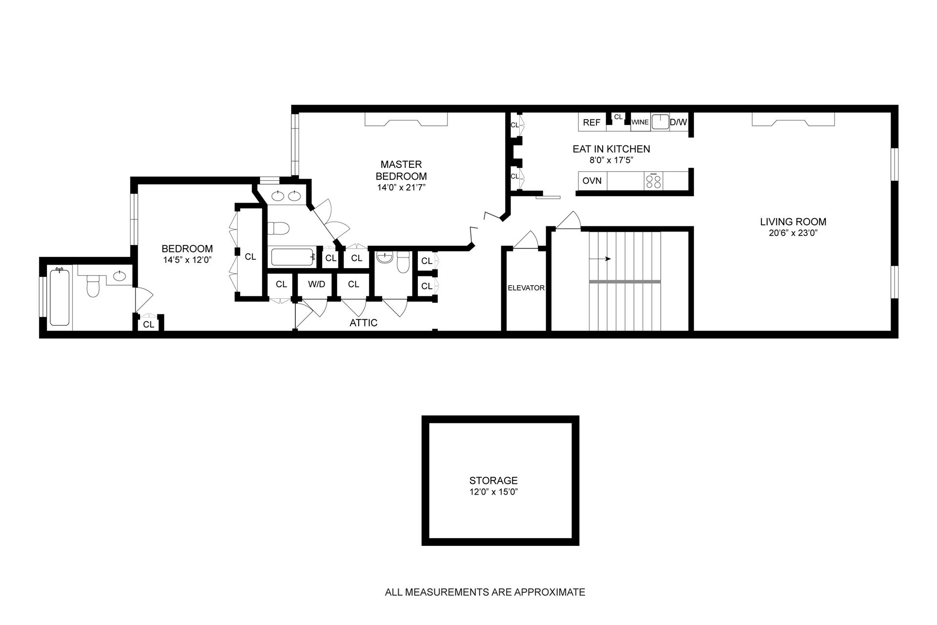 Floor plan of 48 West 86th St, 2 - Upper West Side, New York