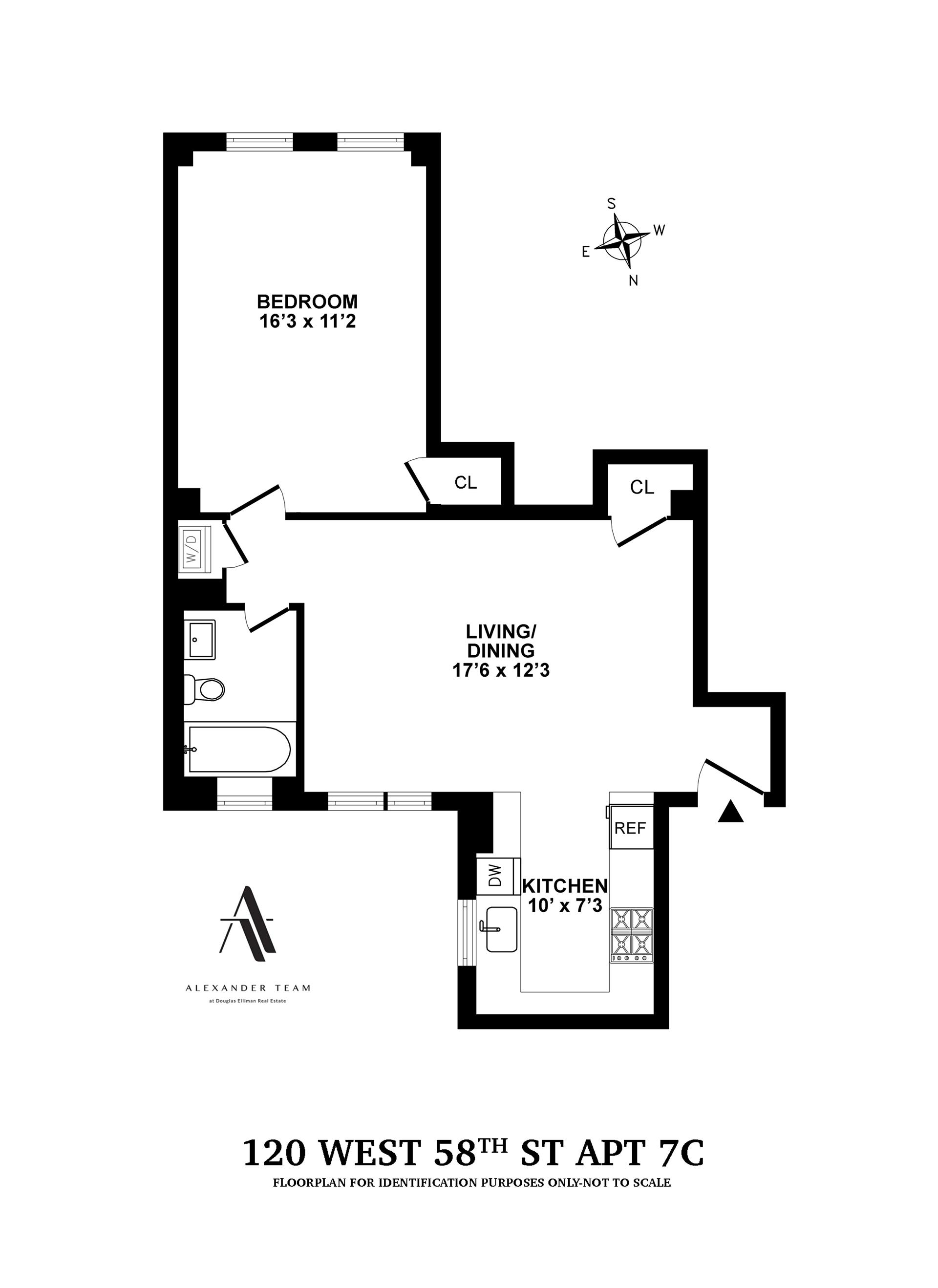 Floor plan of Park South, 120 West 58th St, 7C - Midtown, New York