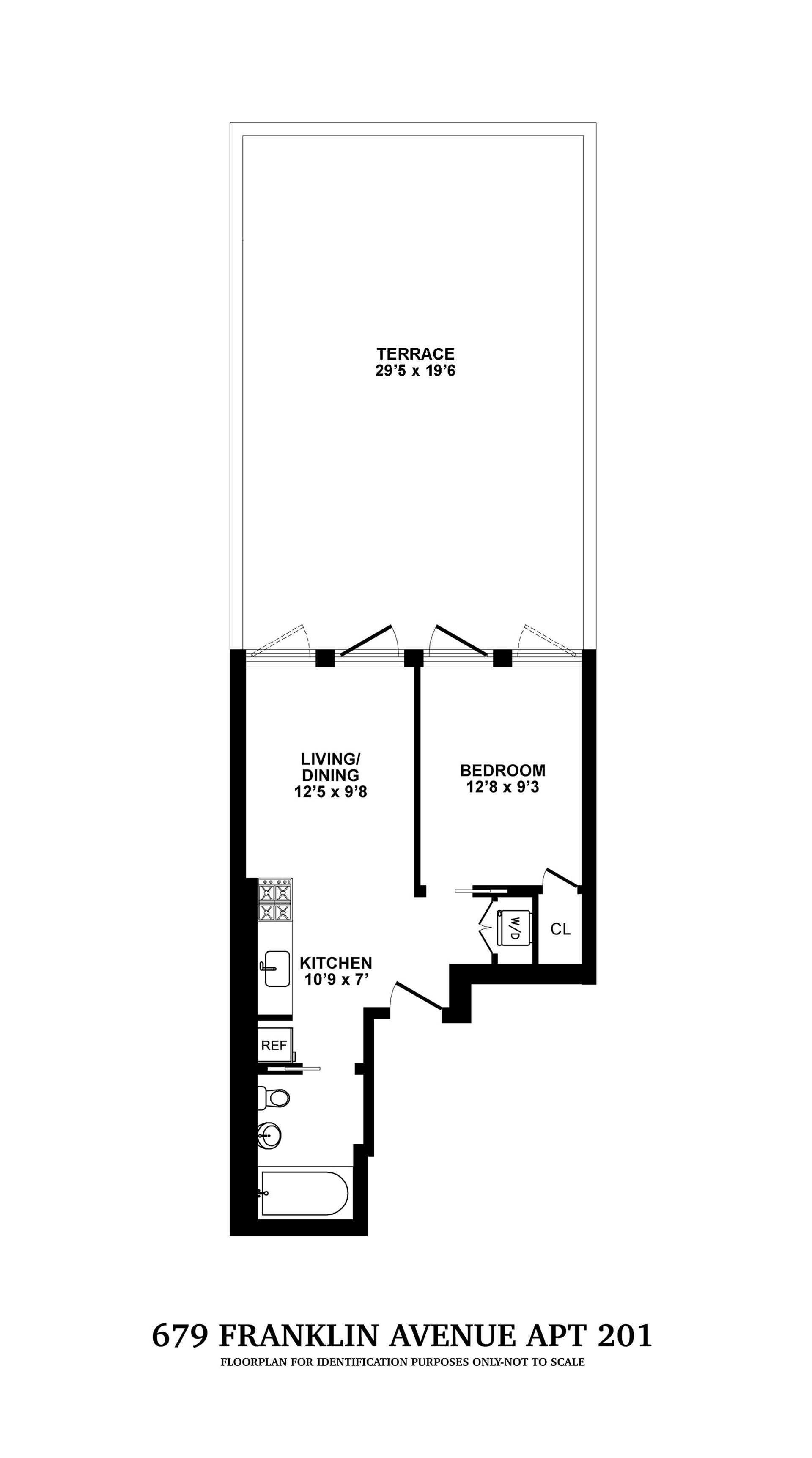 Floor plan of 679 Franklin Avenue, 201 - Crown Heights, New York
