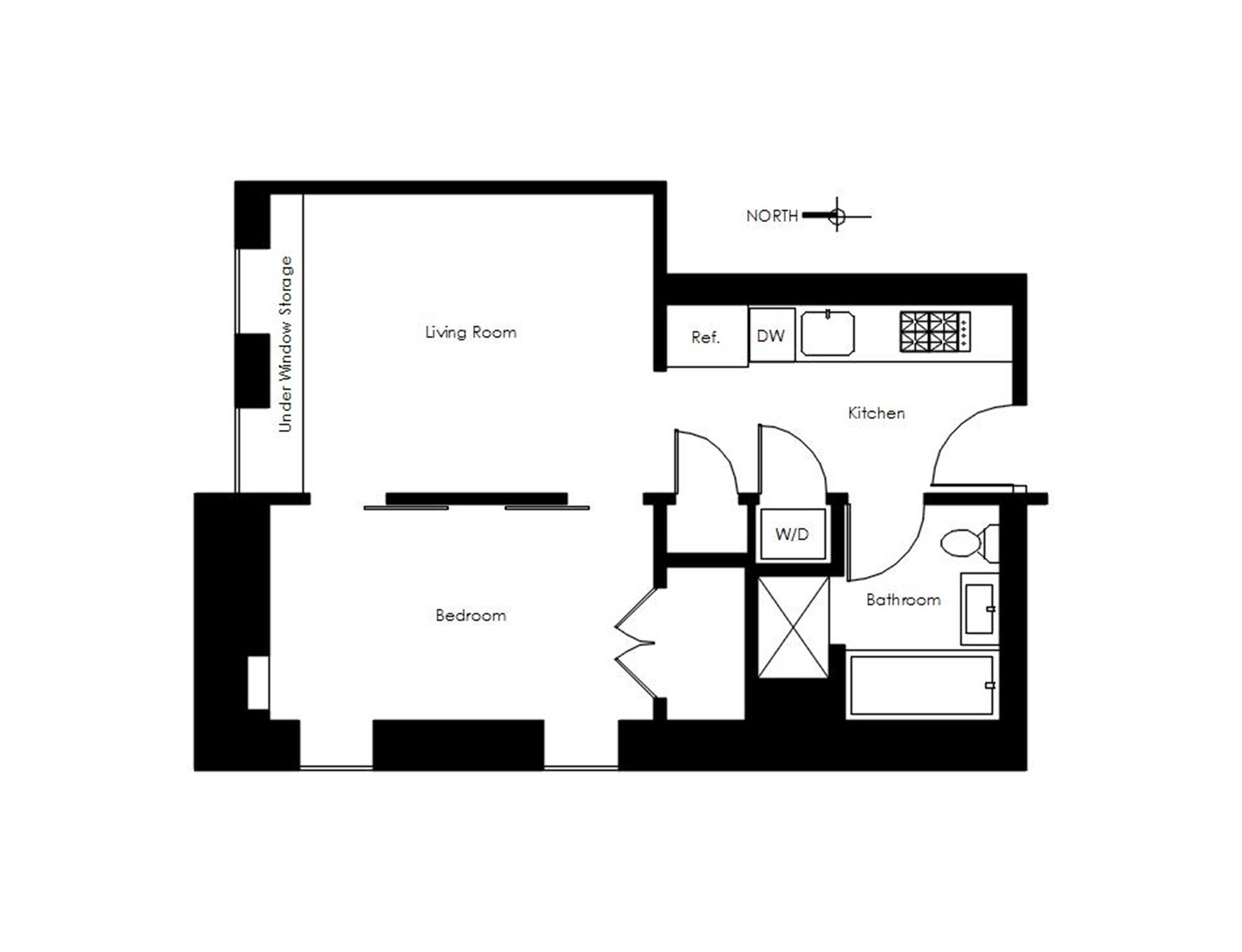 Floor plan of CARRIAGE HOUSE, 159 West 24th St, 6A - Chelsea, New York
