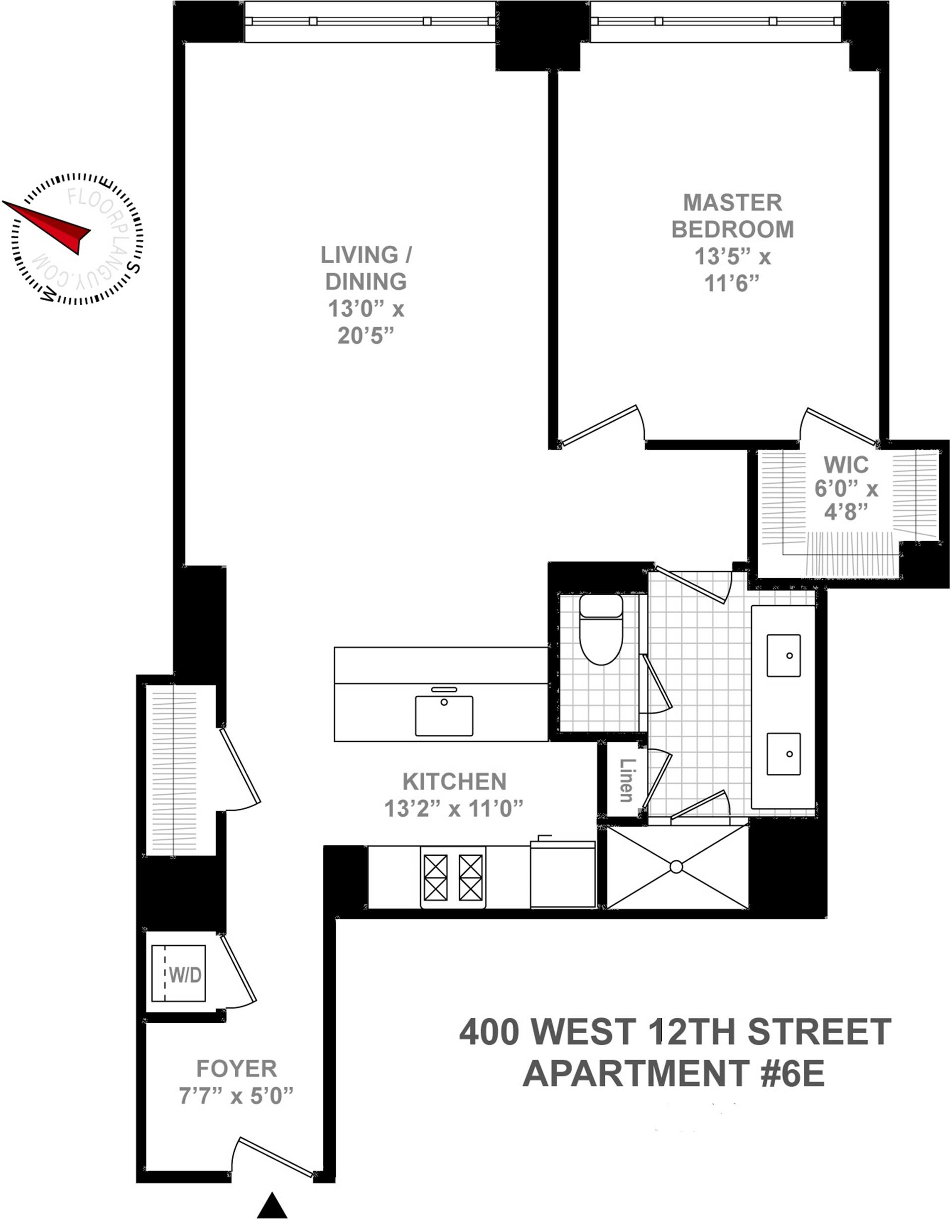 Floor plan of Superior Ink Condominiums, 400 West 12th St, 6E - West Village - Meatpacking District, New York