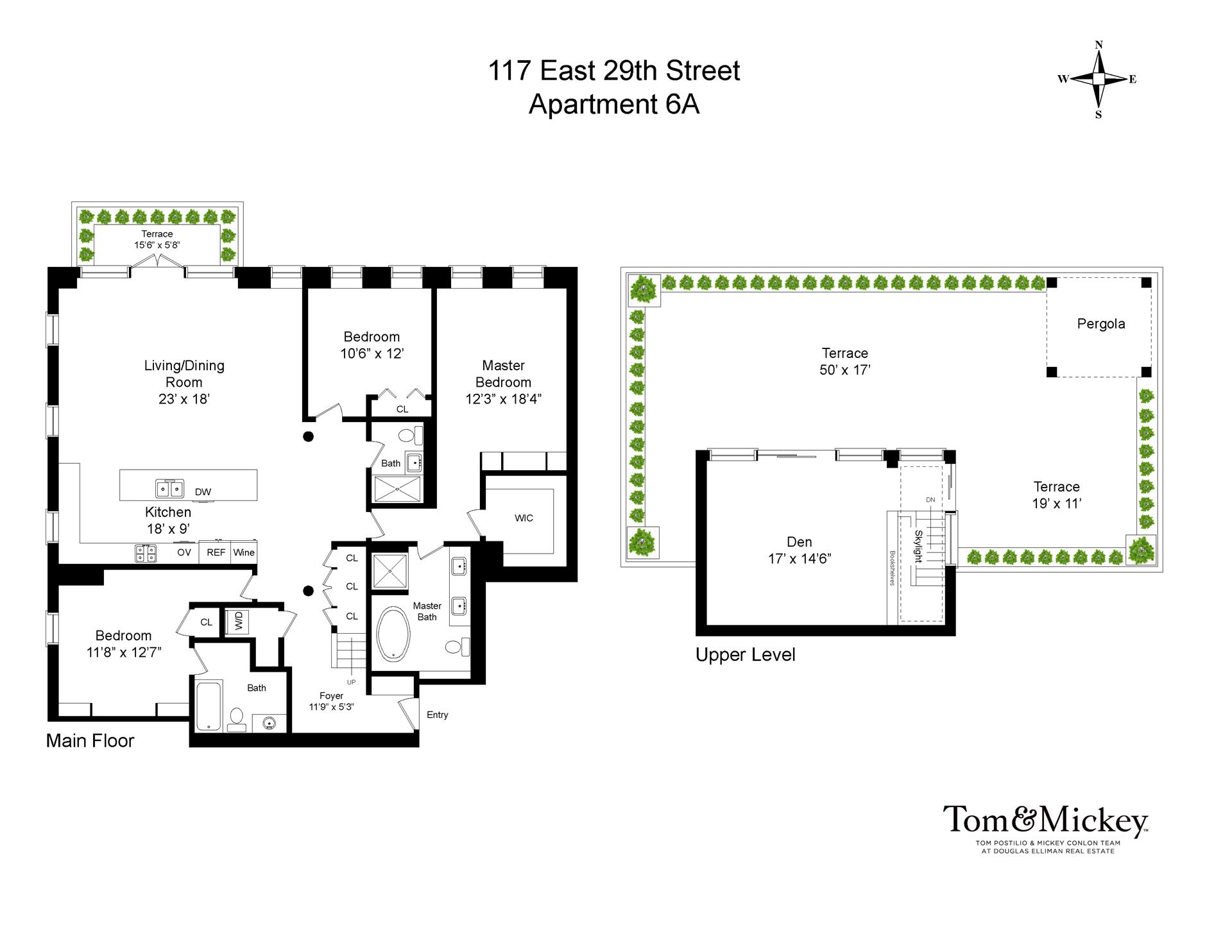 Floor plan of The Park East, 117 East 29th Street, PH6A - NoMad, New York
