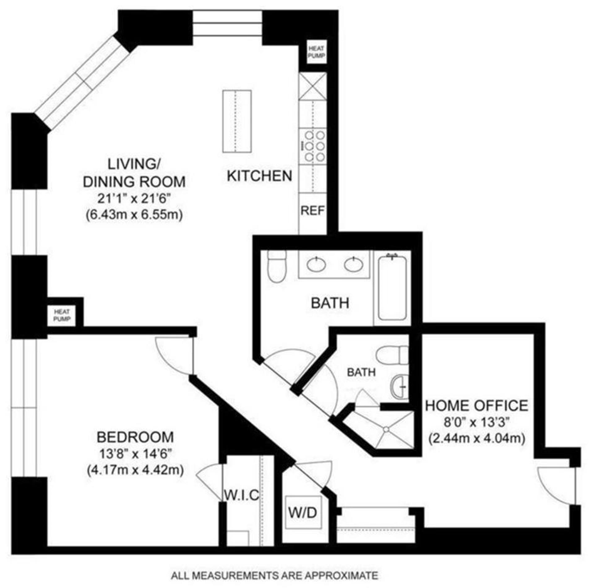 Floor plan of 75 Wall St, 25F - Financial District, New York