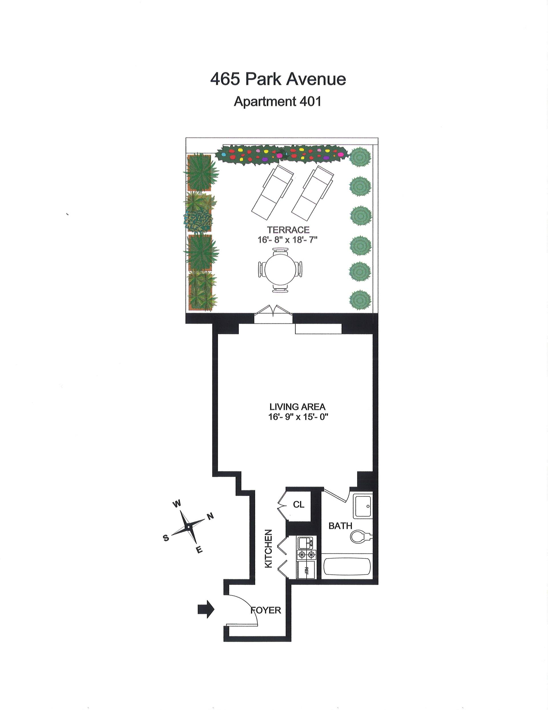 Floor plan of 465 Park Avenue, 401 - Midtown, New York