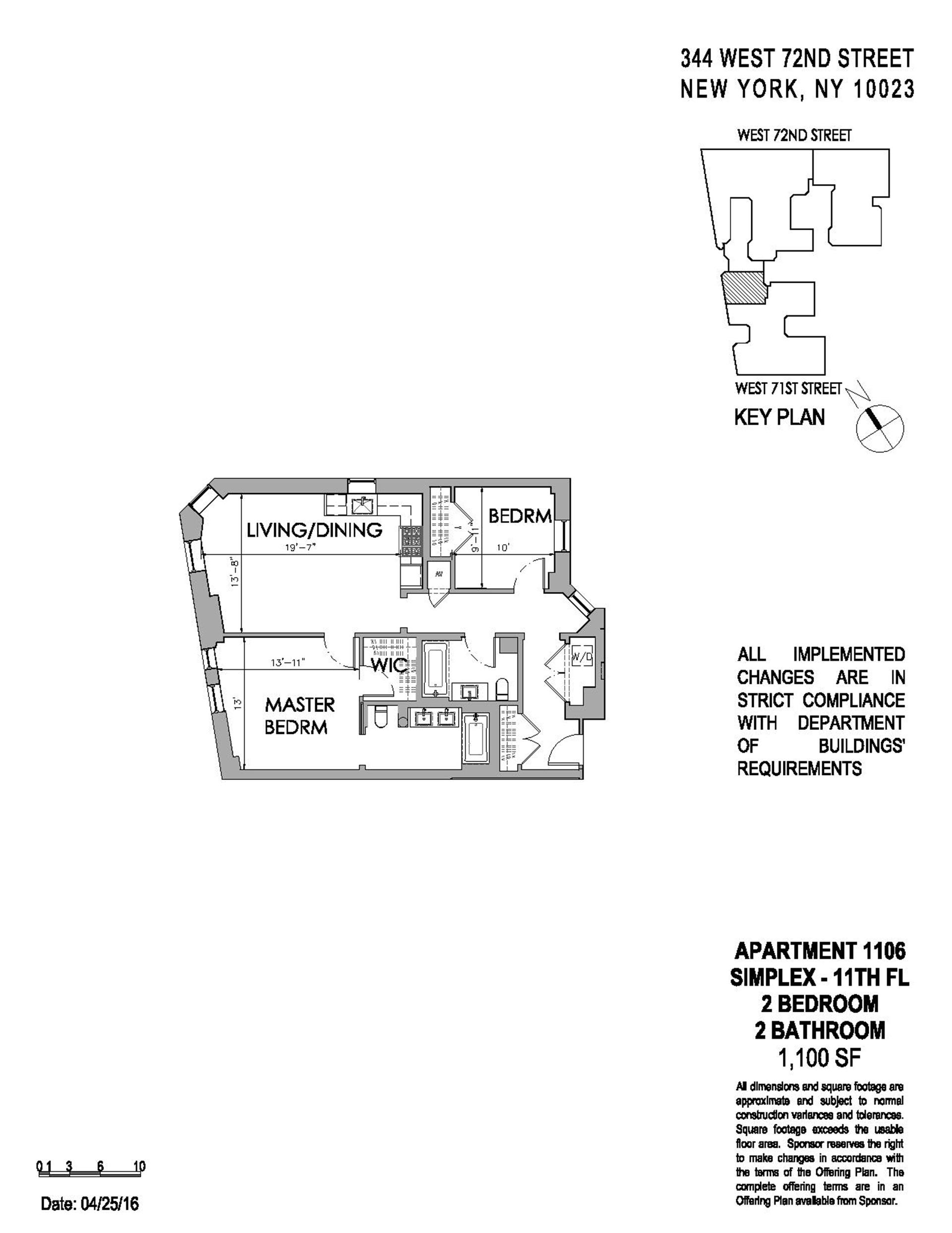 Floor plan of The Chatsworth, 344 West 72nd St, 1106 - Upper West Side, New York