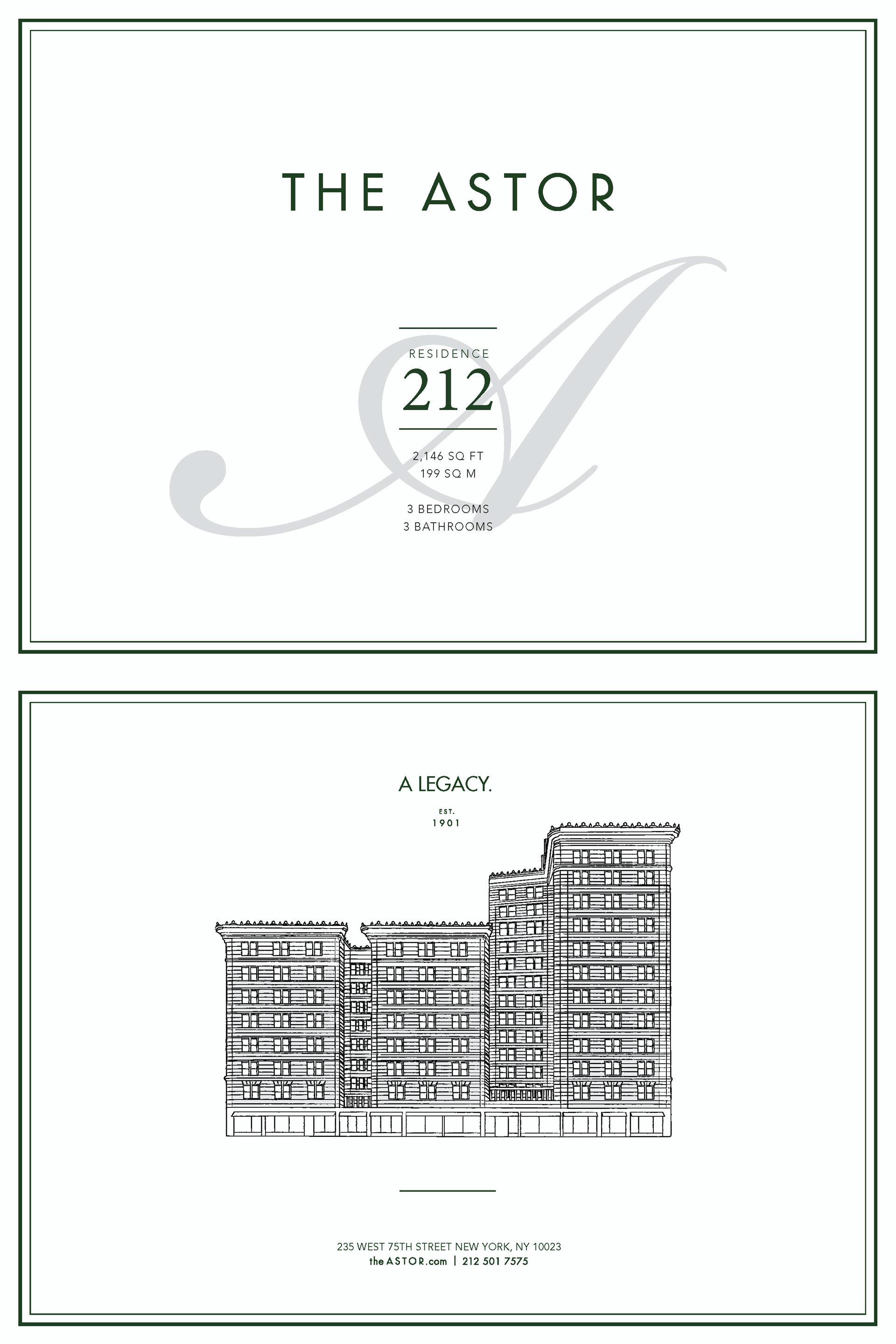 Floor plan of The Astor, 235 West 75th St, 212 - Upper West Side, New York