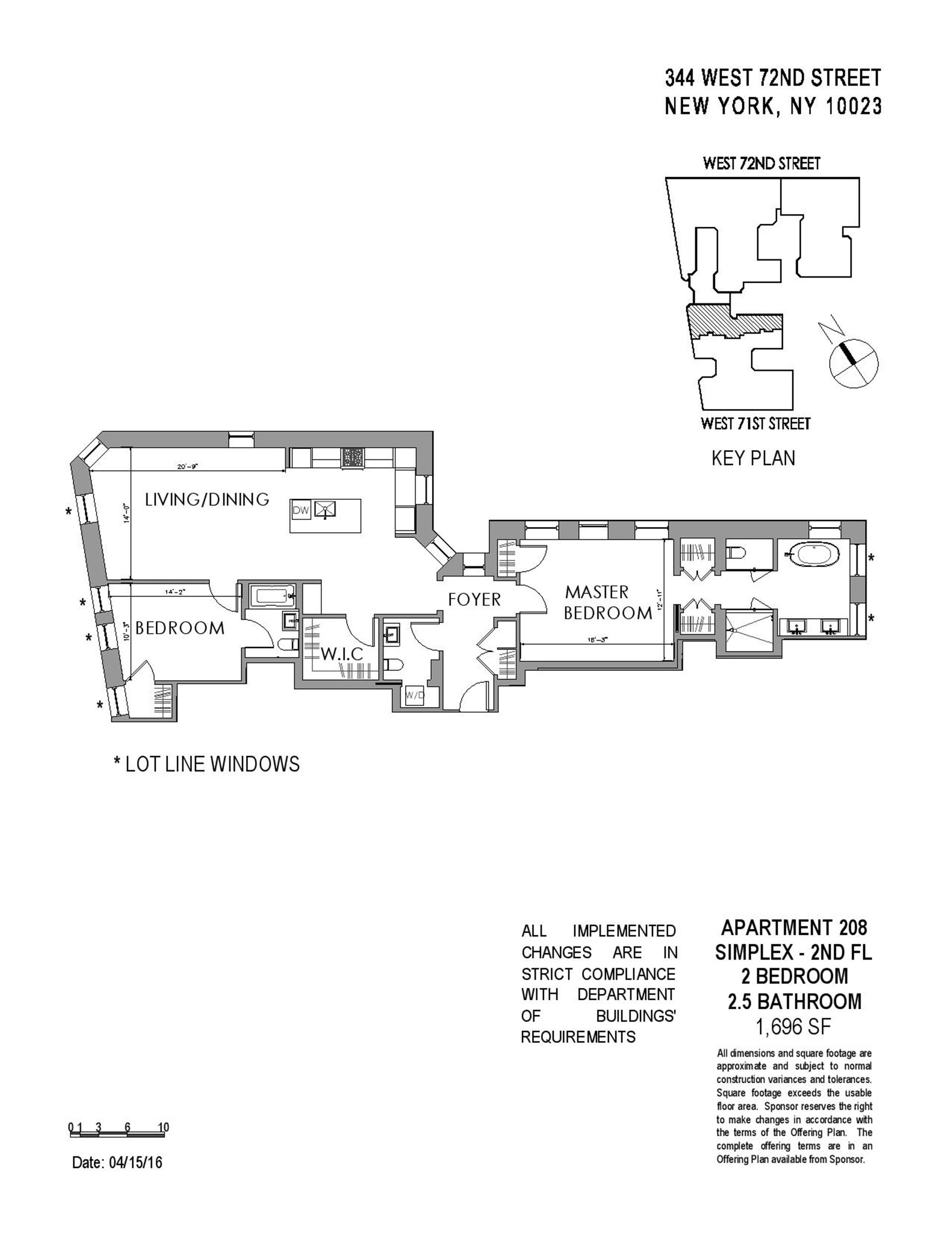 Floor plan of The Chatsworth, 344 West 72nd St, 208 - Upper West Side, New York