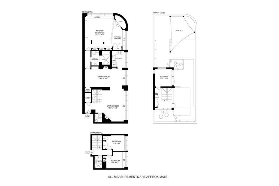Floor plan of The Lousiana, 300 East 90th Street, PHD