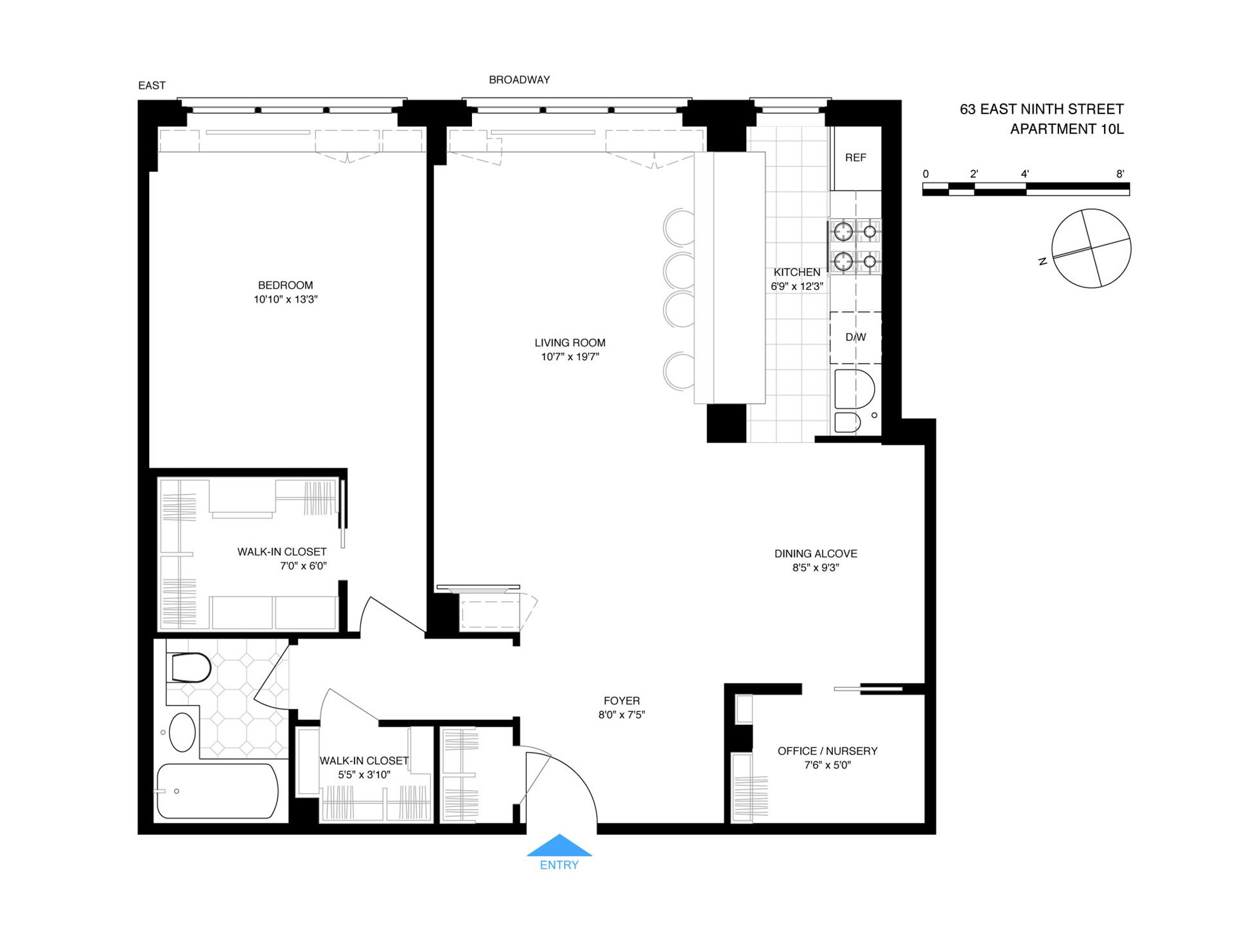Floor plan of RANDALL HOUSE, 63 East 9th St, 10L - Greenwich Village, New York