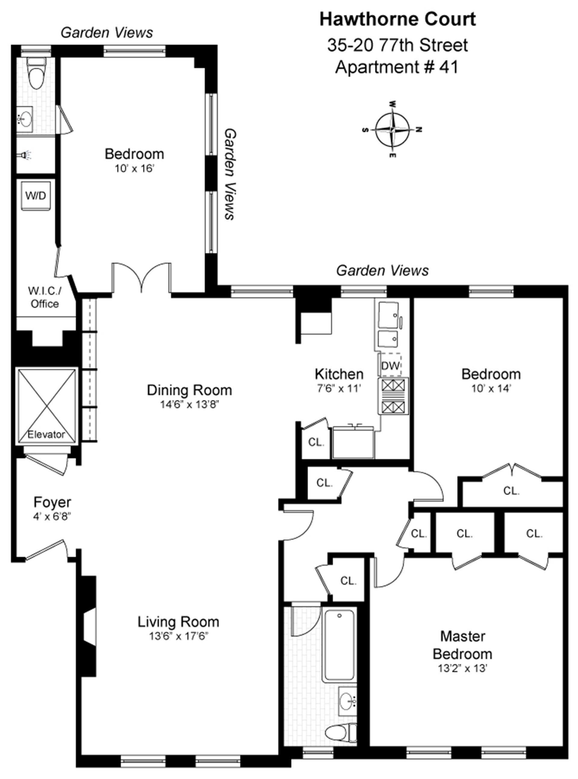 Floor plan of 35-20 77th St, 41 - Jackson Heights, New York