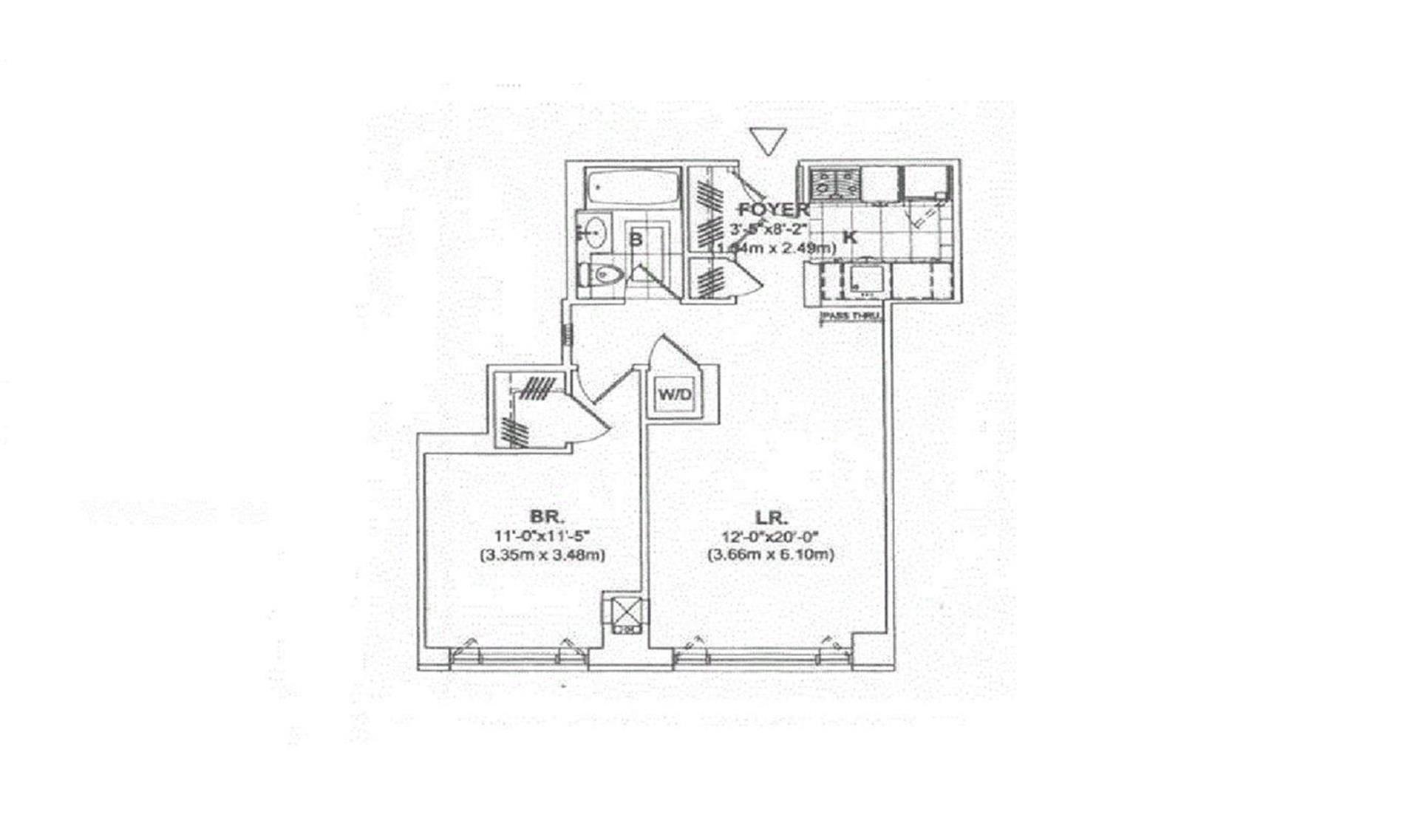Floor plan of 205 East 85th Street, 5B - Upper East Side, New York