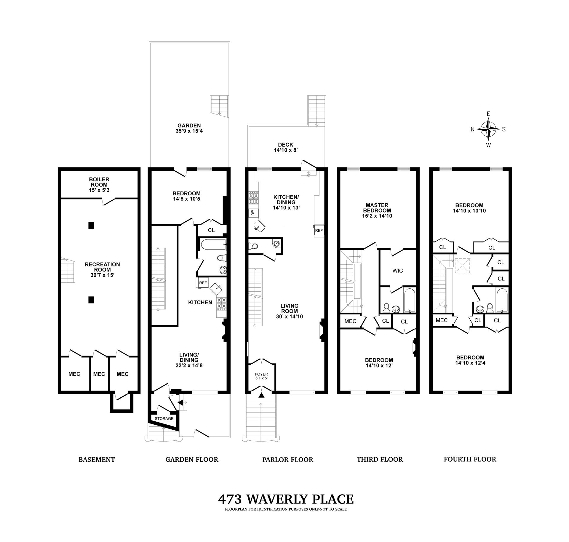Floor plan of 473 Waverly Avenue - Clinton Hill, New York