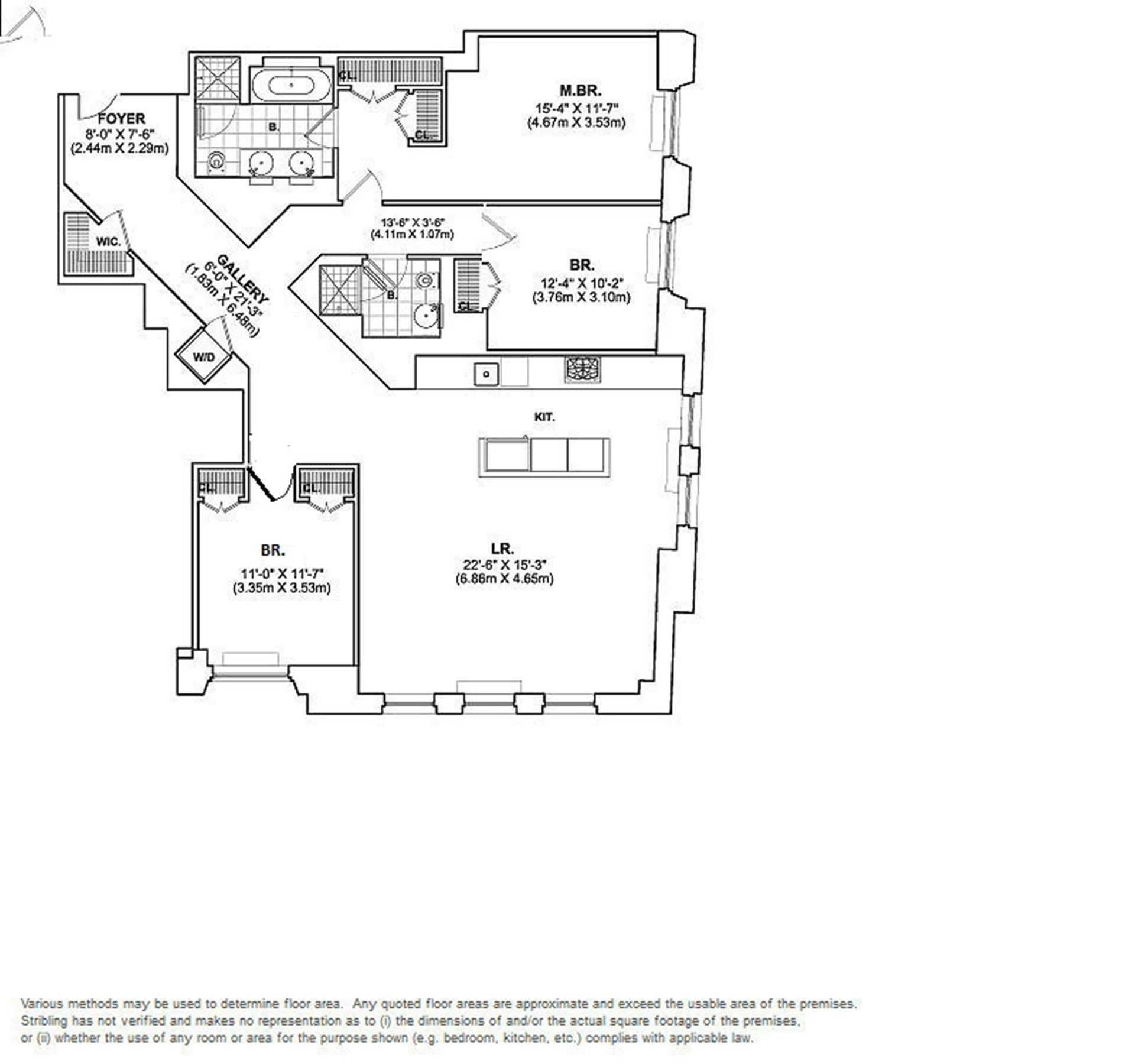 Floor plan of DOWNTOWN BY STARCK, 15 Broad St, 2520 - Financial District, New York