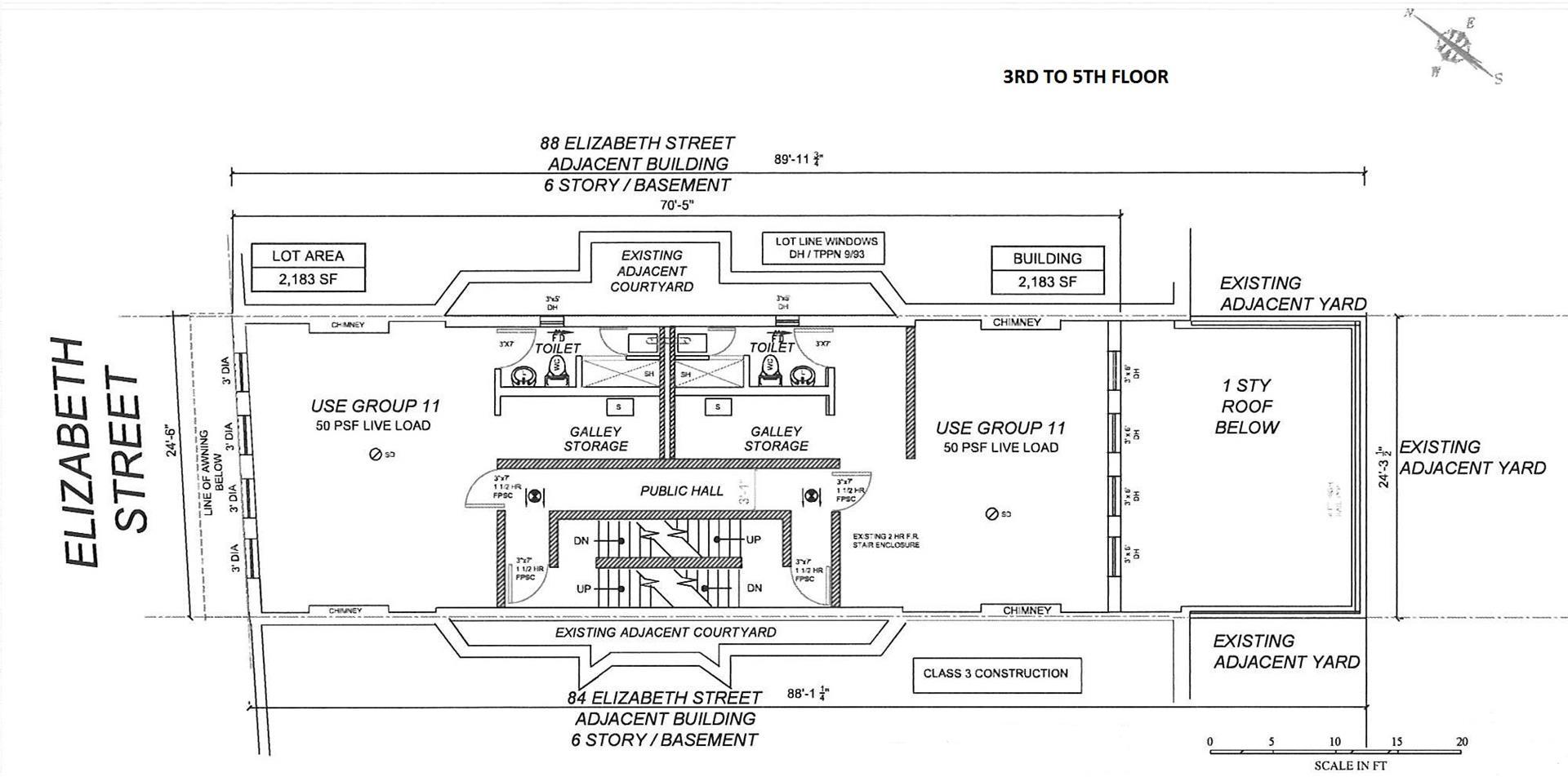 Floor plan of 86 Elizabeth St - Little Italy - Chinatown, New York