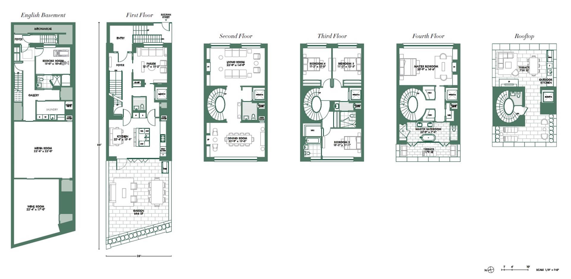 Floor plan of 40 Sullivan Street - SoHo - Nolita, New York