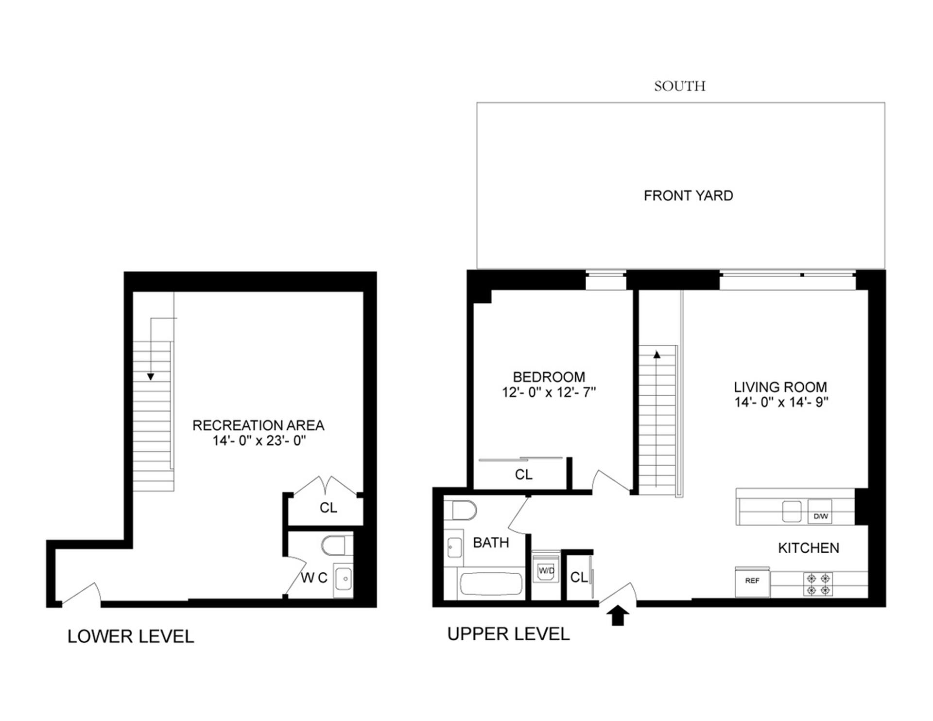 Floor plan of 311 Hart St, 1F - Stuyvesant Heights, New York