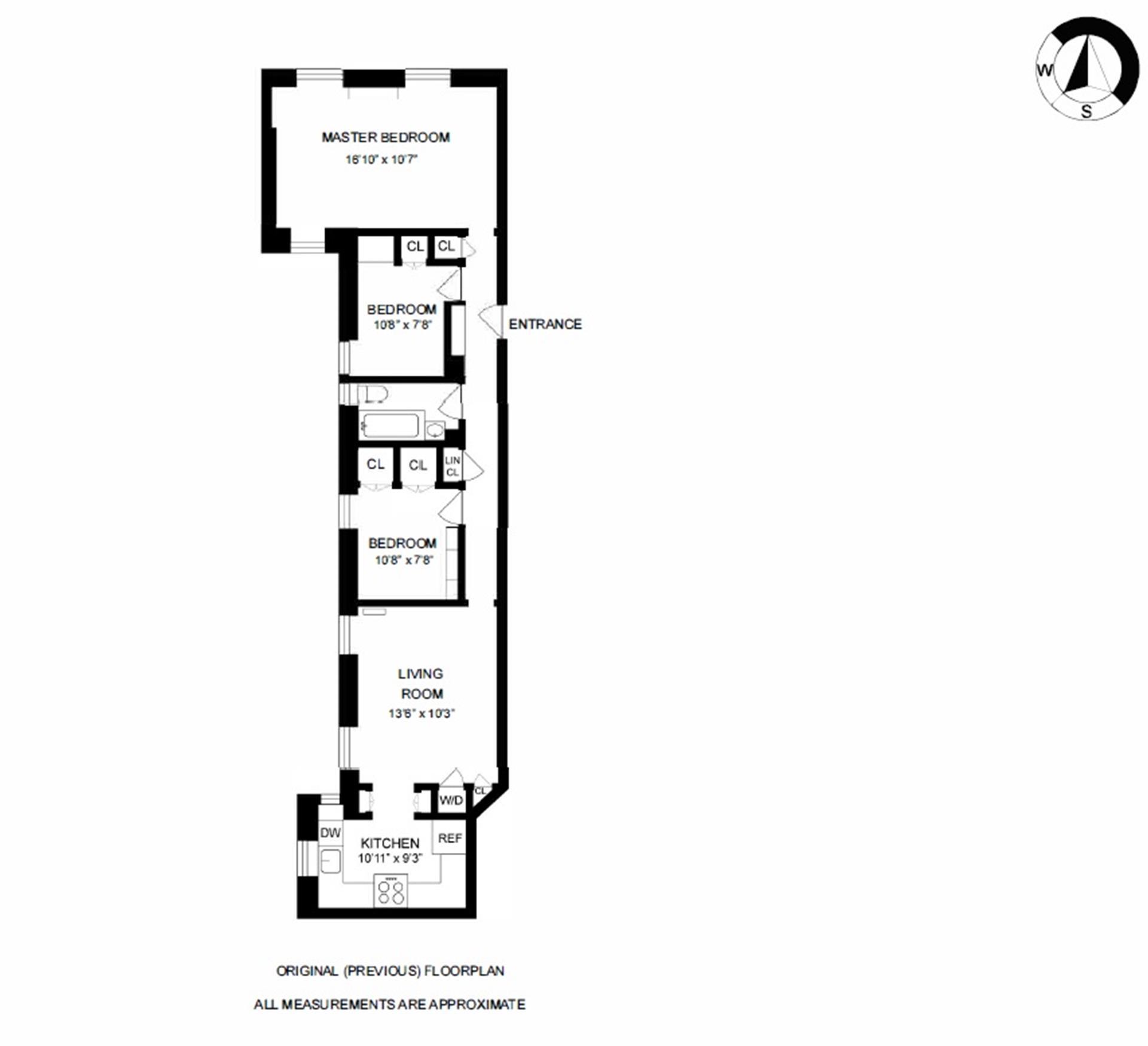 Floor plan of The Unadilla, 126 West 11th St, 2 - Greenwich Village, New York