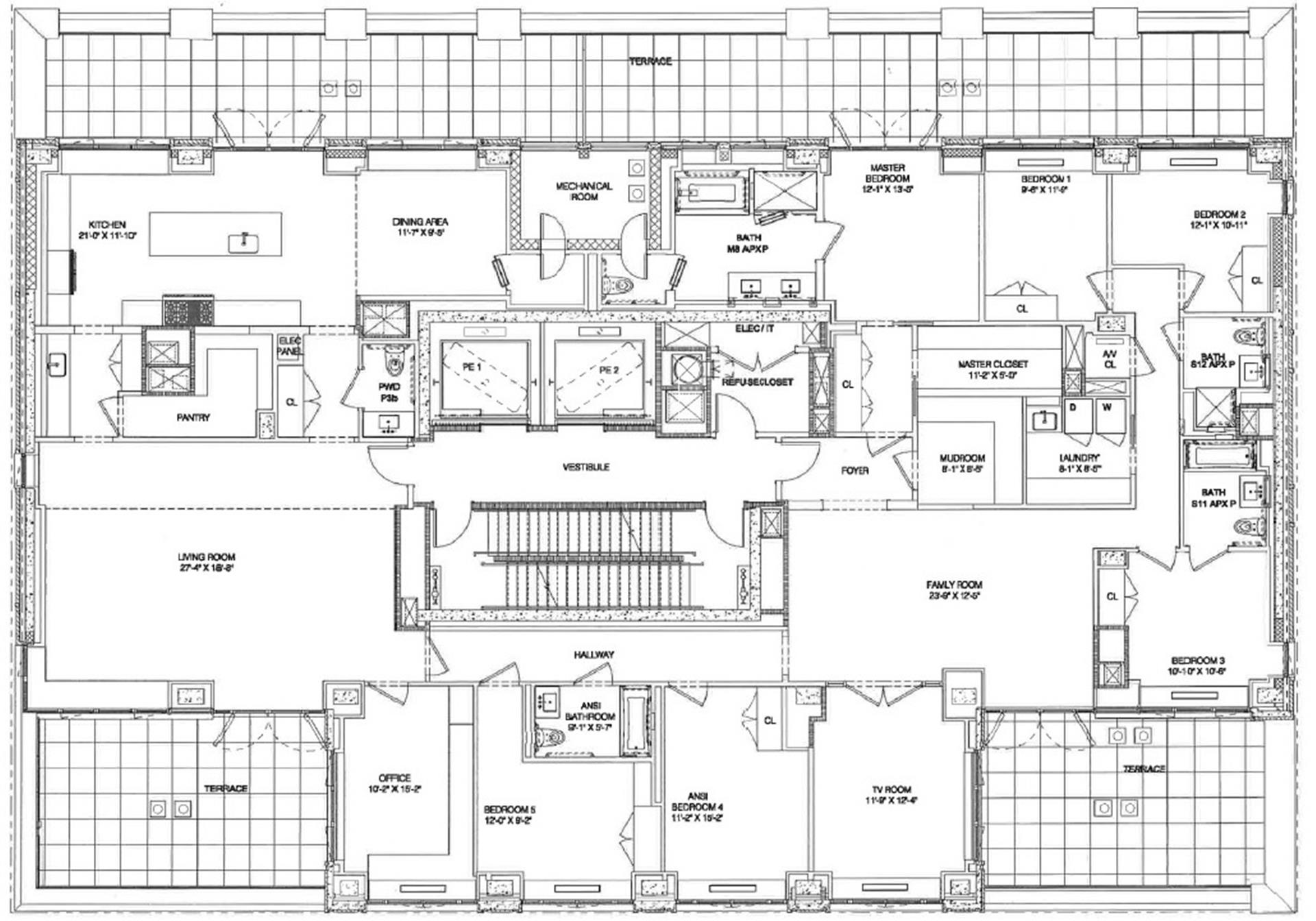 Floor plan of 269 West 87th St, 12AB - Upper West Side, New York