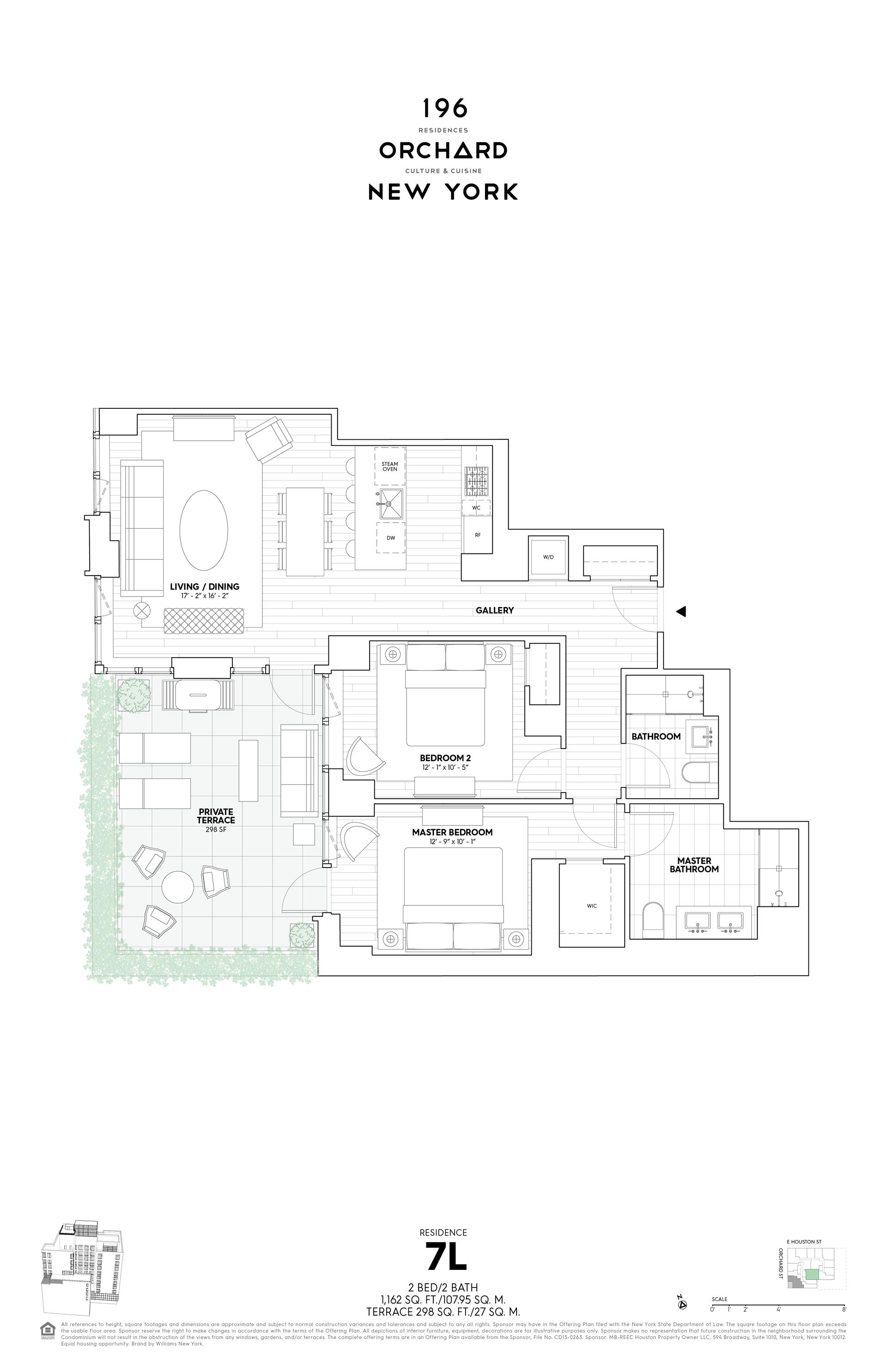 Floor plan of 196 Orchard St, 7L - Lower East Side, New York