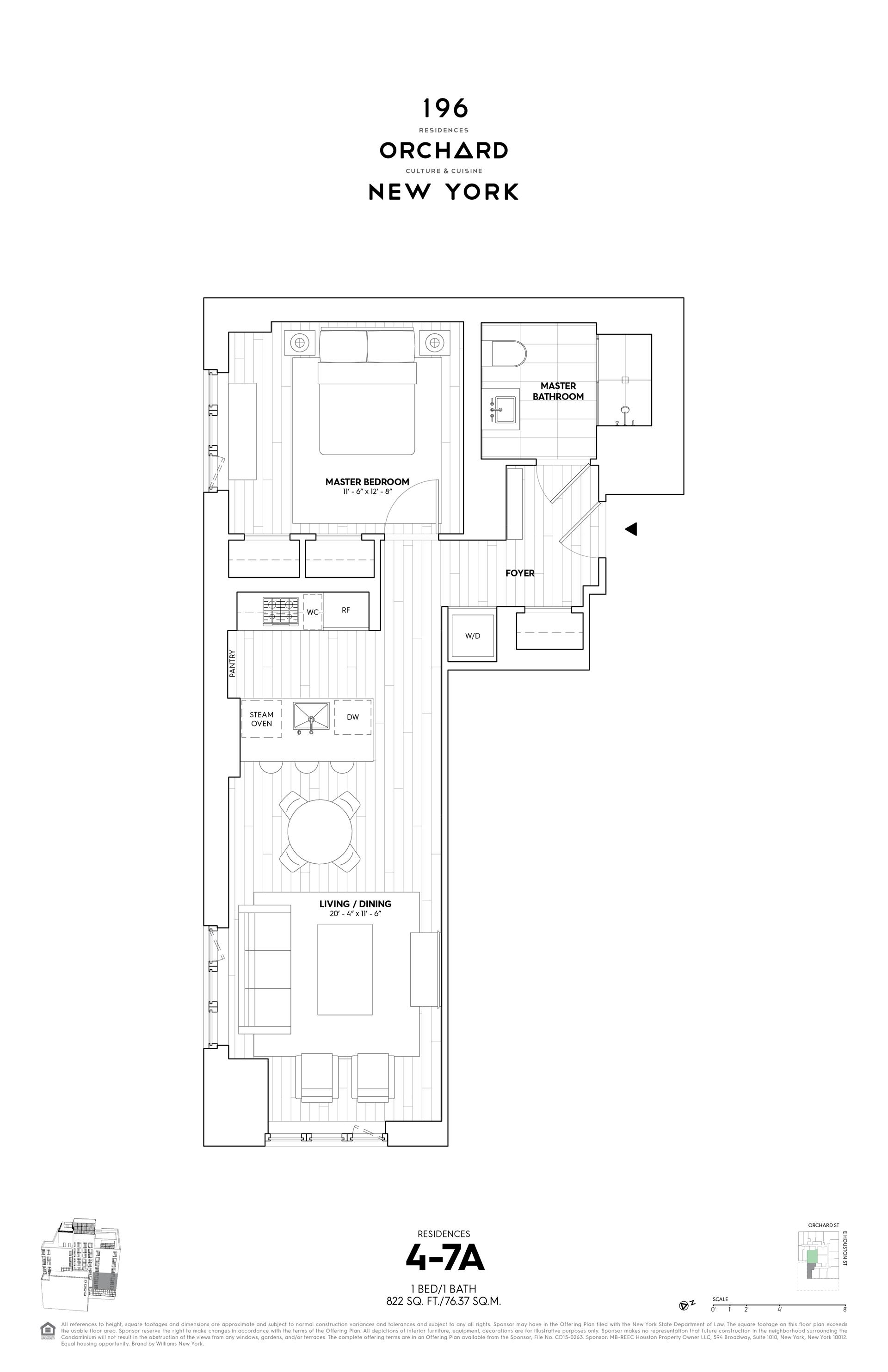 Floor plan of 196 Orchard Street, 4A - Lower East Side, New York