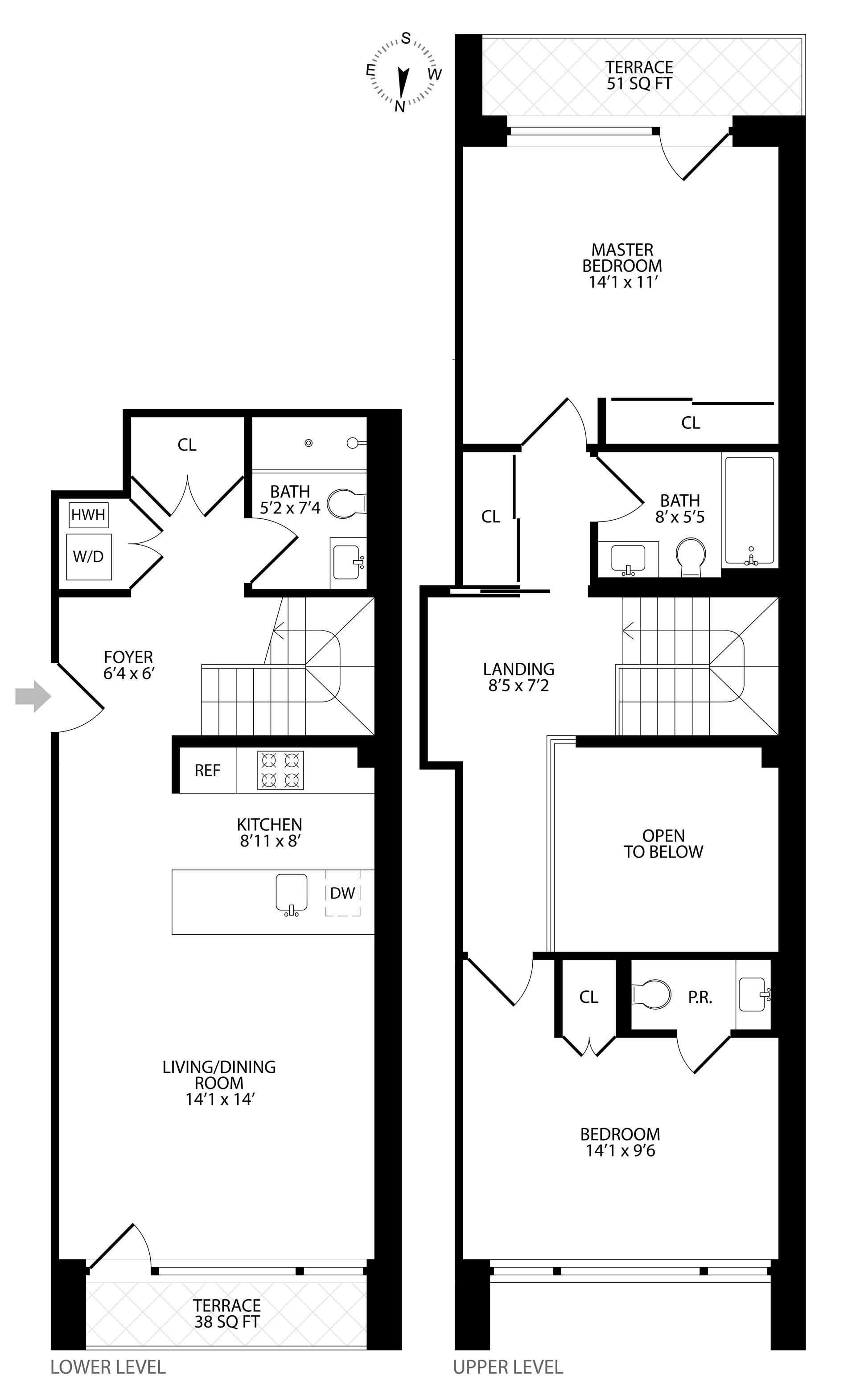 Floor plan of 204 Monroe Street, 2C - Bedford - Stuyvesant, New York