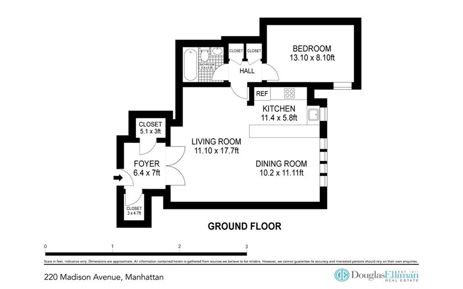 Floor plan of 220 Madison Avenue, 9L - Murray Hill, New York