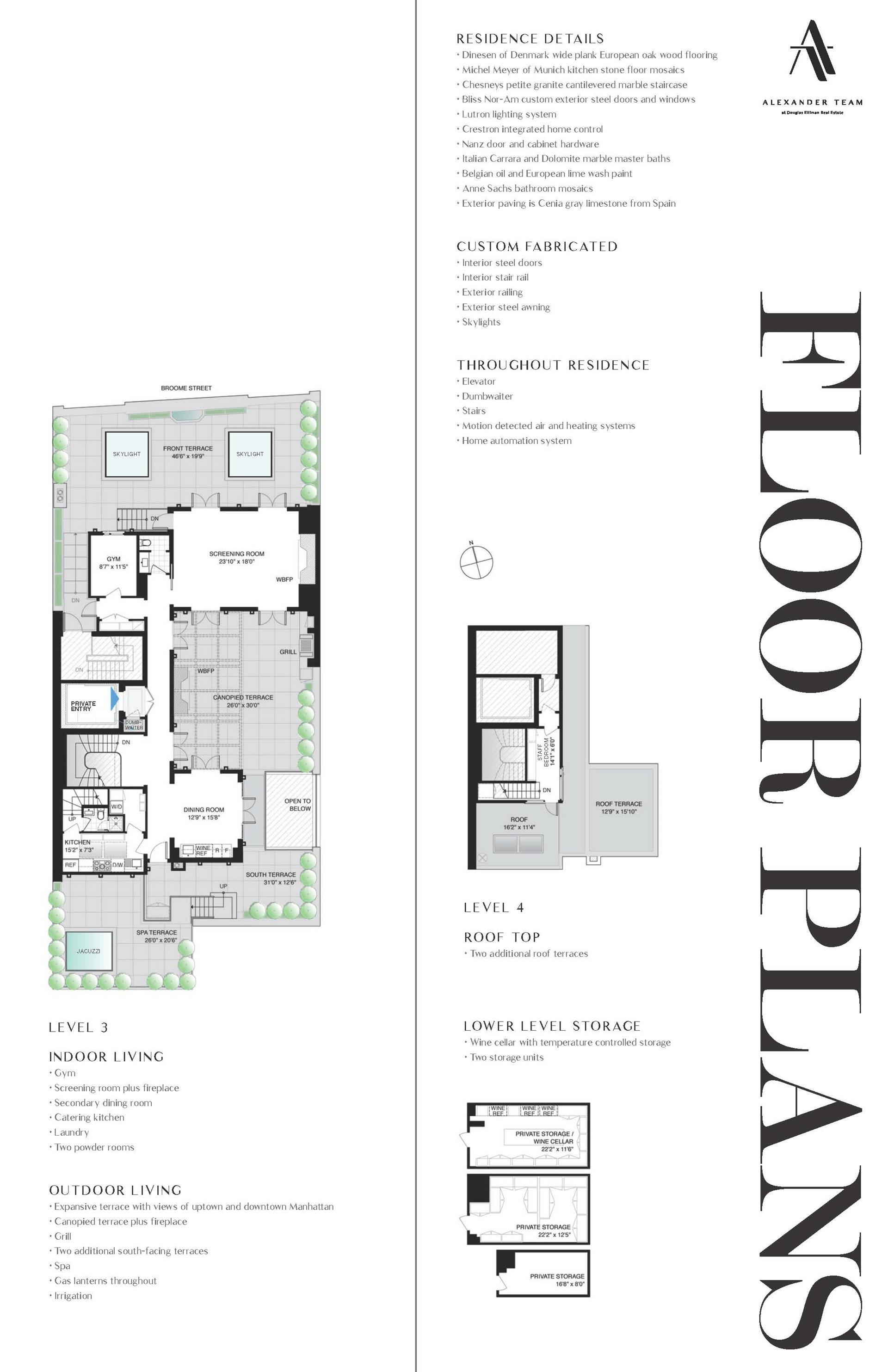Floor plan of THE TULIP BUILDING, 421 Broome Street, PENTHOUSE - SoHo - Nolita, New York