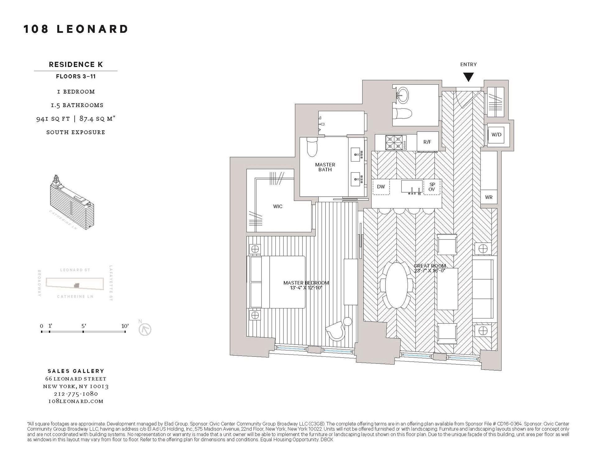 Floor plan of 108 Leonard St, 7K - TriBeCa, New York