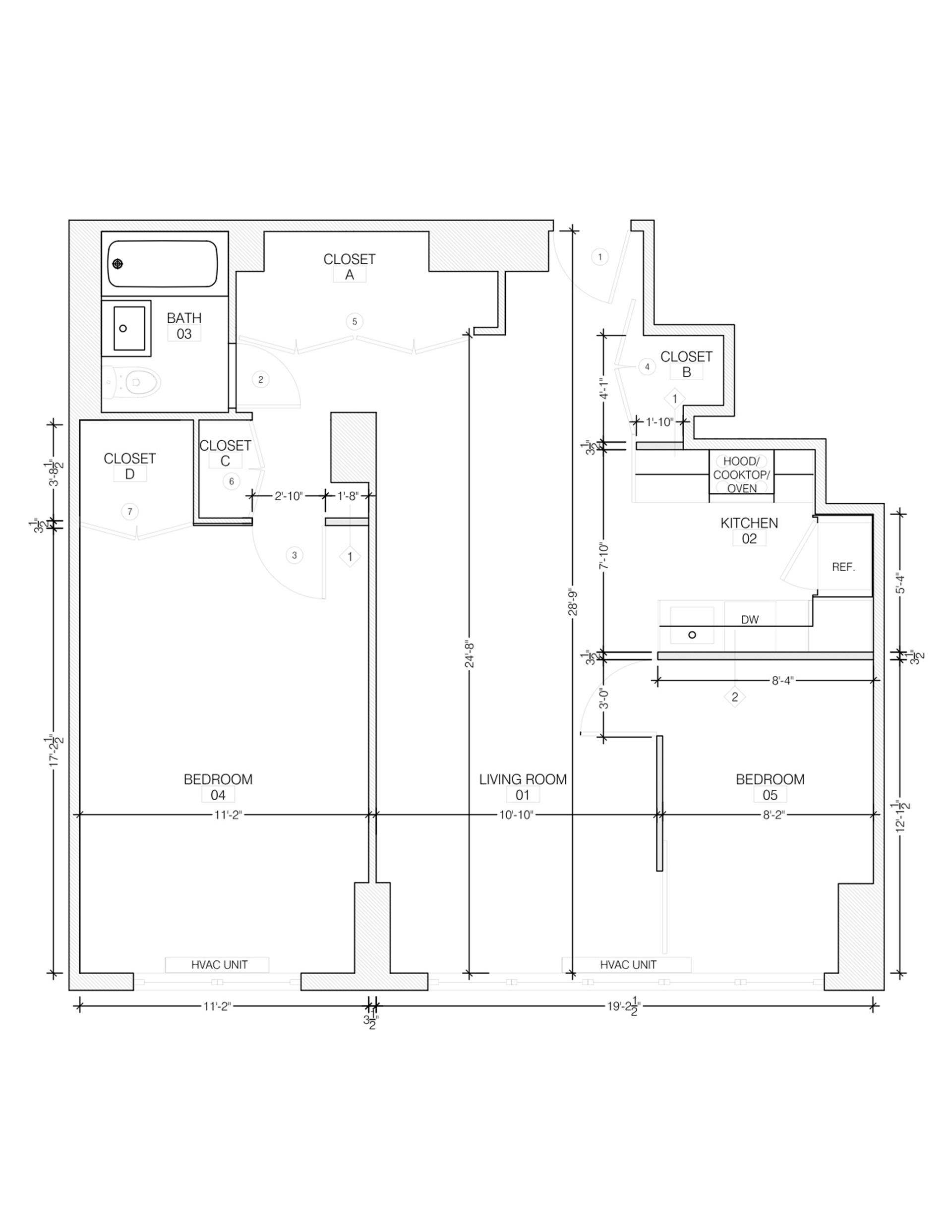Floor plan of Riverview East, 251 East 32nd St, 9A - Kips Bay, New York