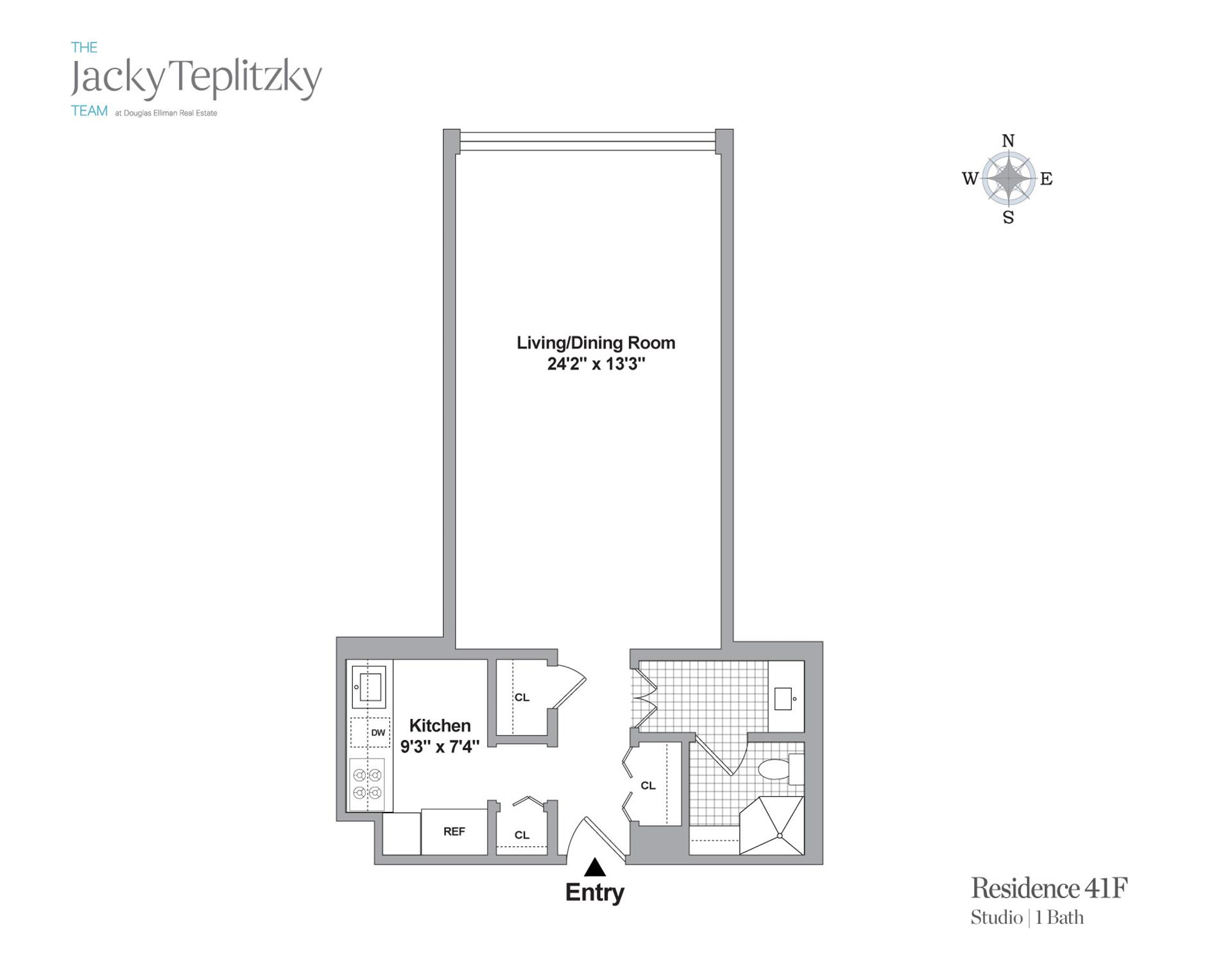 Floor plan of 117 East 57th St, 41F - Midtown, New York