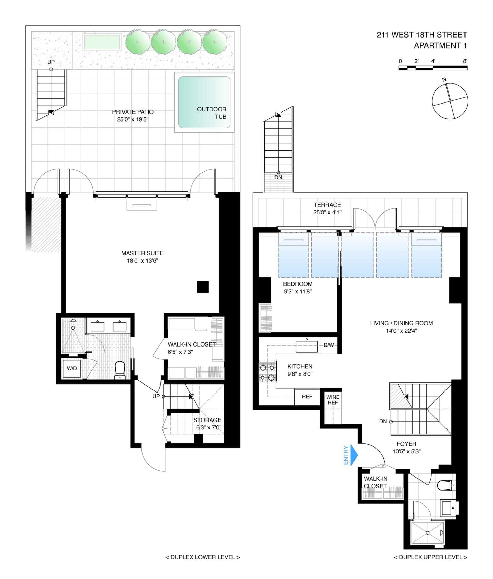 Floor plan of 211 West 18th St, 1 - Chelsea, New York
