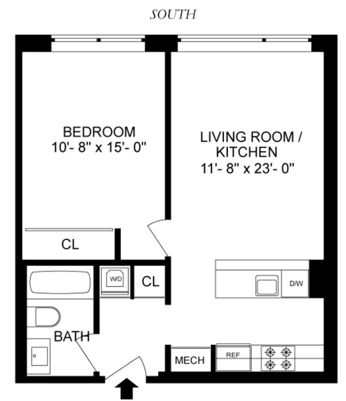 Floor plan of 311 Hart St, 3F - Stuyvesant Heights, New York