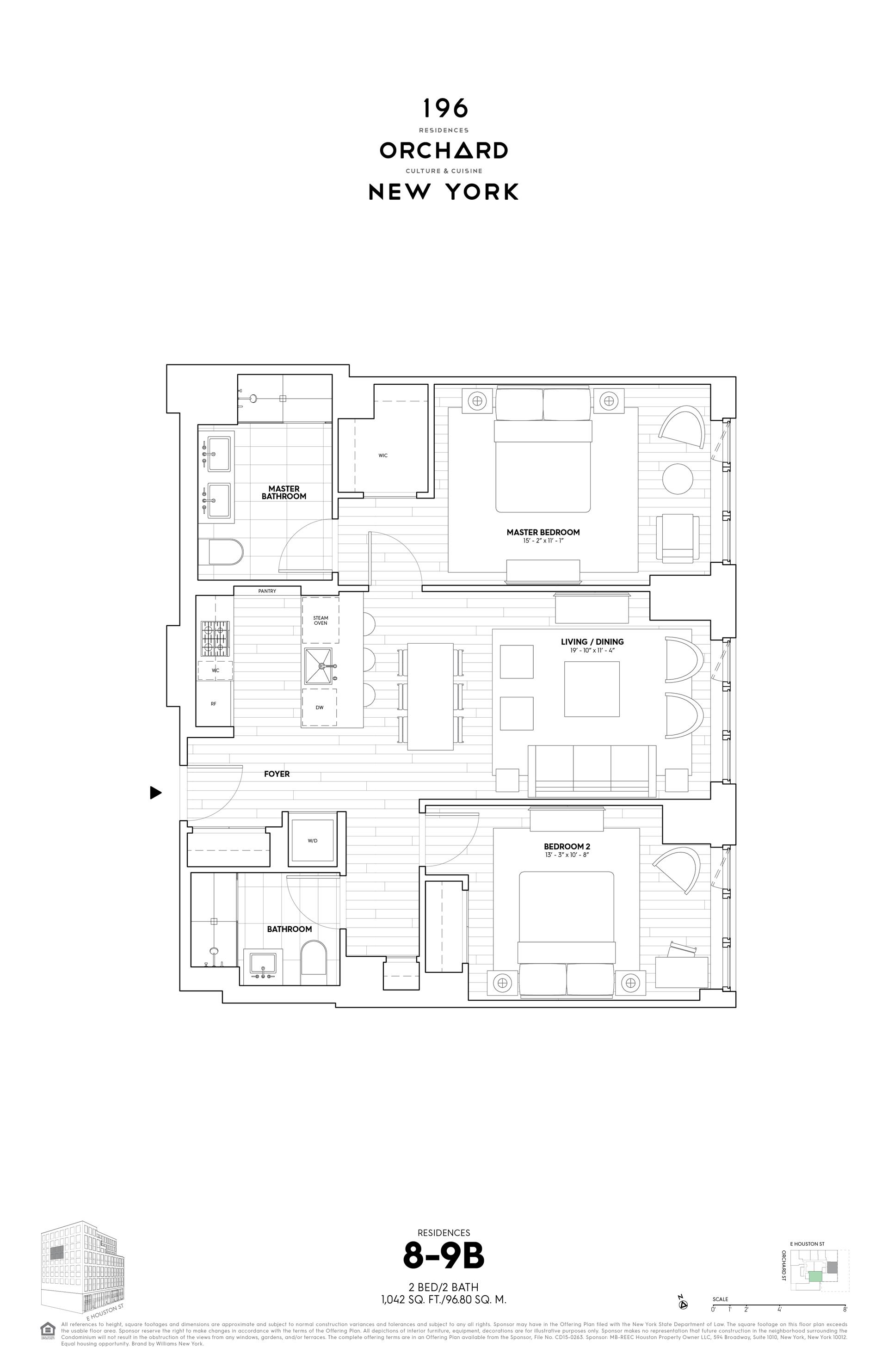 Floor plan of 196 Orchard Street, 9B - Lower East Side, New York