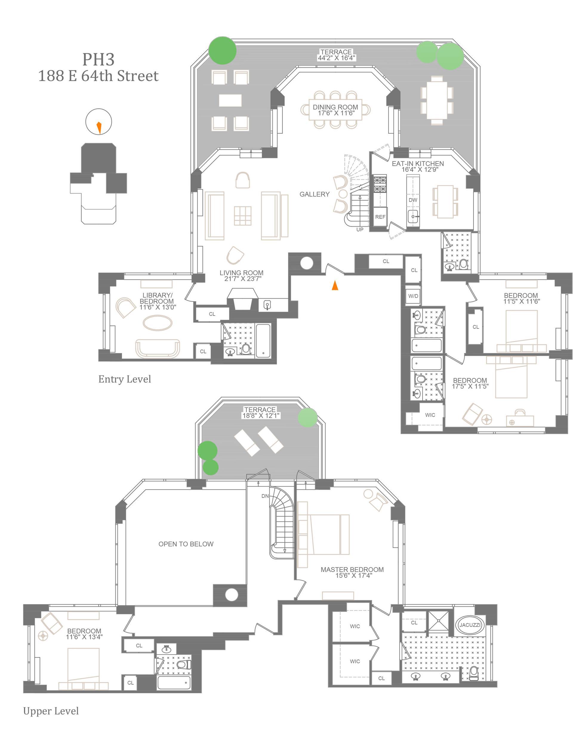 Floor plan of The Royale, 188 East 64th Street, PH3 - Upper East Side, New York